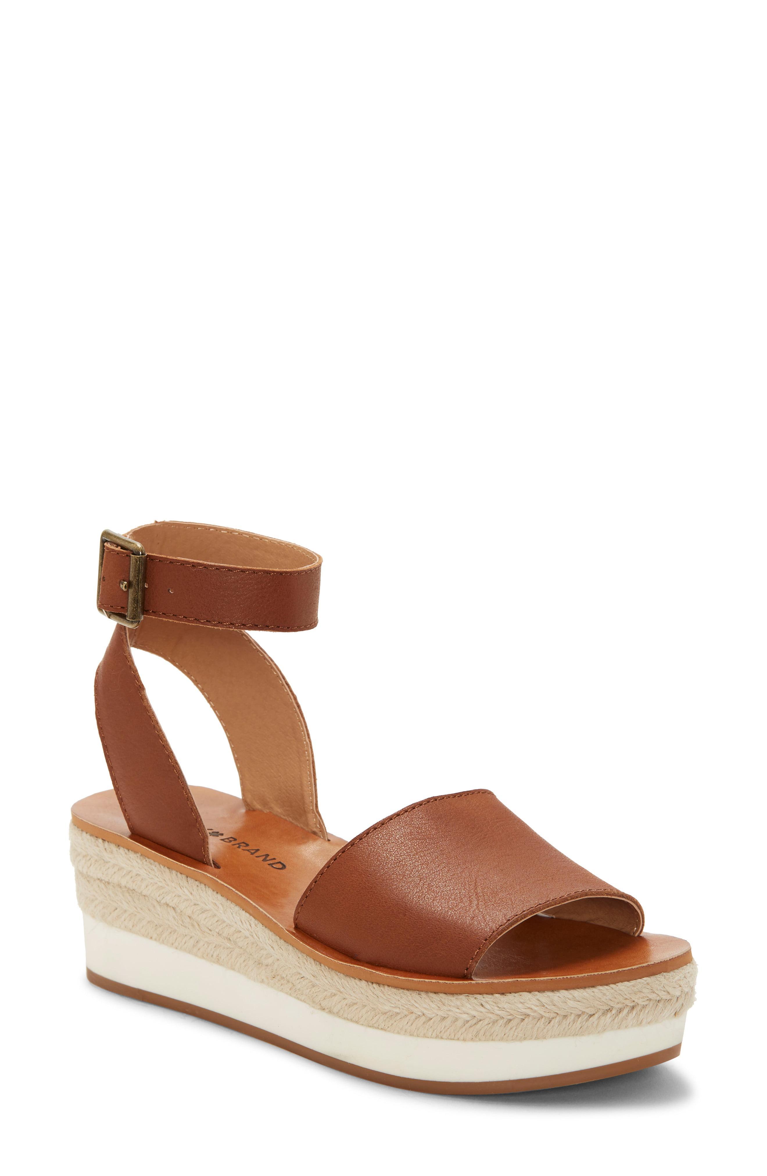 ee2d5b421 Lyst - Lucky Brand Joodith Platform Wedge Sandal in Brown