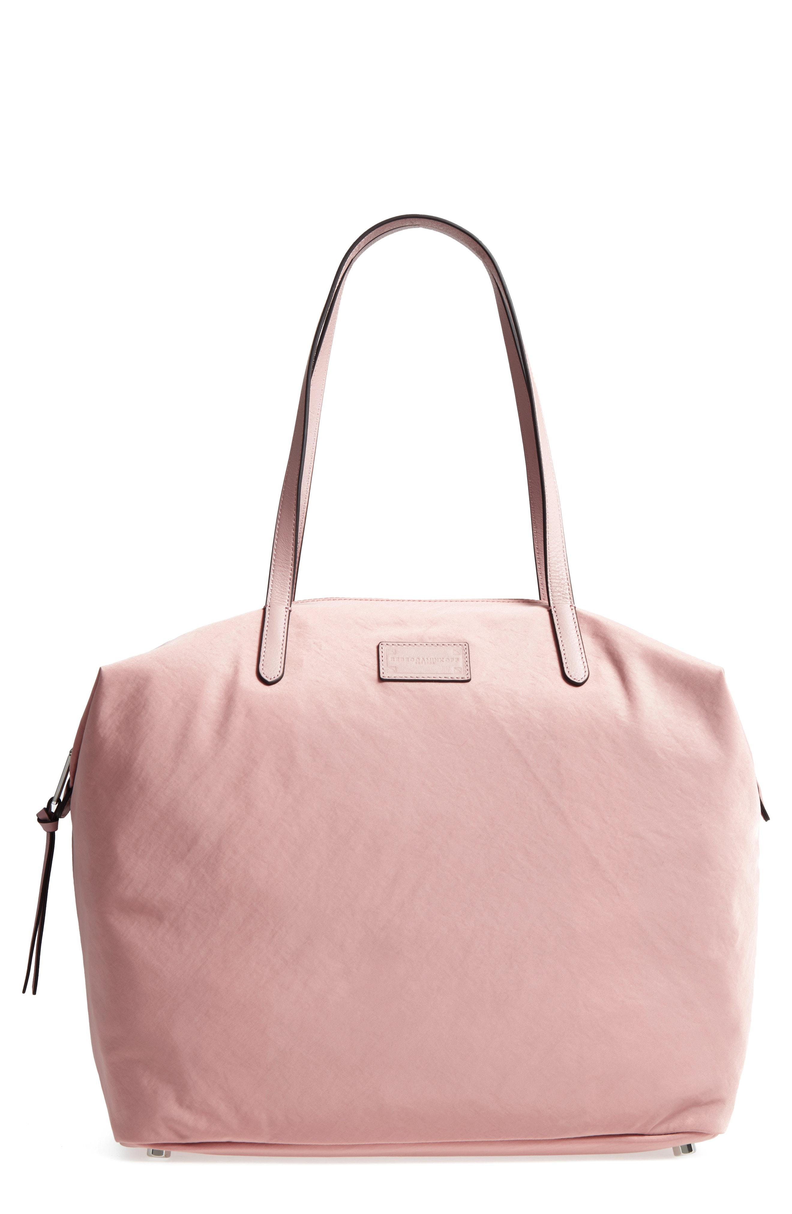 ed1332fb8 Lyst - Rebecca Minkoff Washed Nylon Tote in Pink