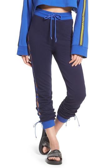 2c4c4dd893f PUMA Fenty By Rihanna Lace-up Sweatpants in Blue - Lyst