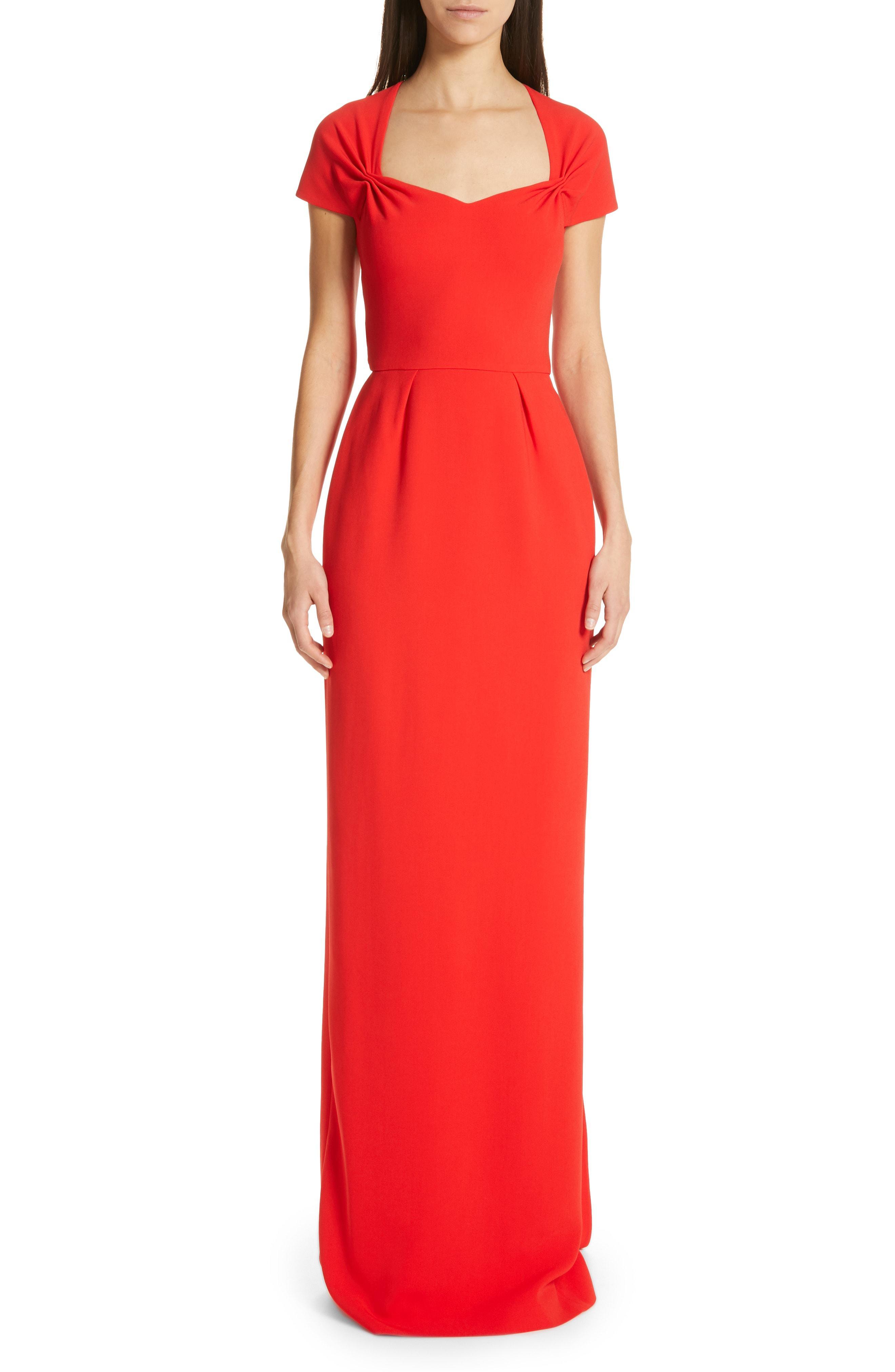 ba4e01be25 Lyst - Stella McCartney Rose Column Gown in Red