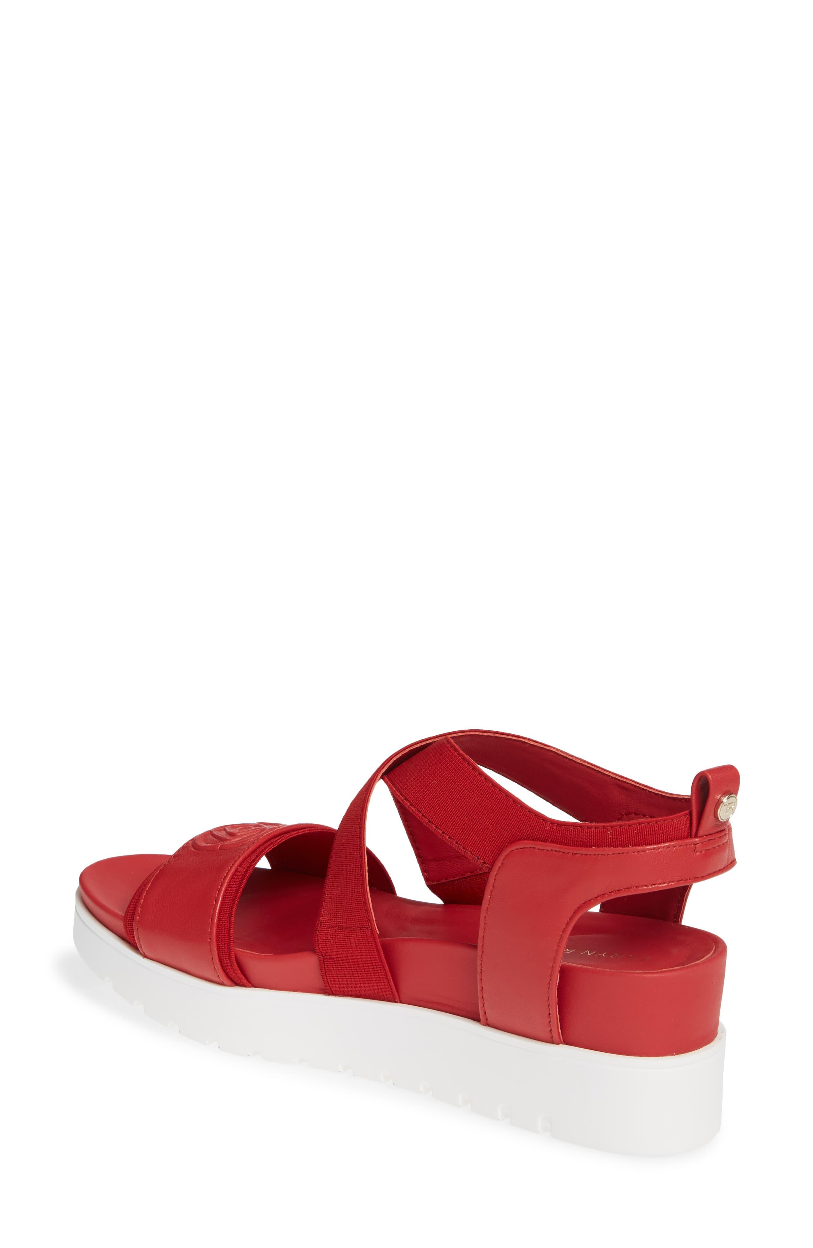 ce1a68f7f29 Lyst - Taryn Rose Stephanie Wedge Sandal in Red - Save 40%