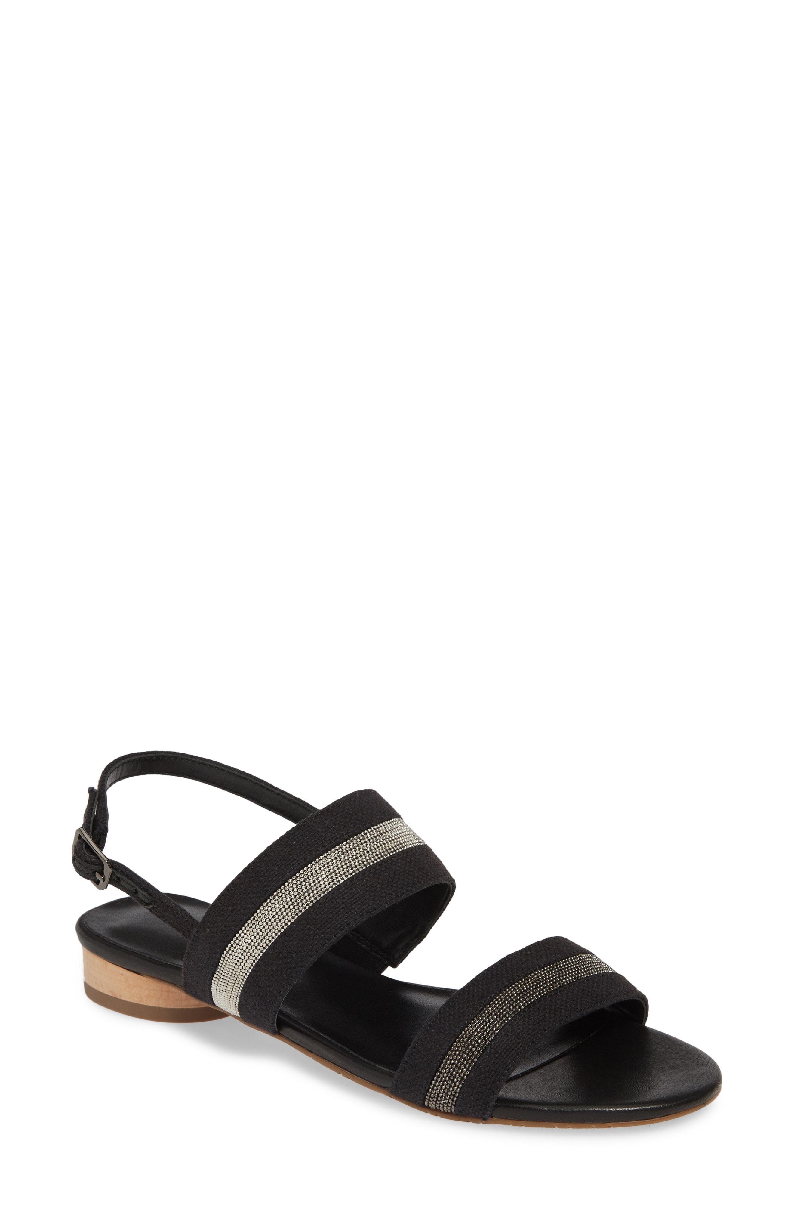 d55c421b8 Lyst - Vaneli Brylee Embellished Slingback Sandal in Black