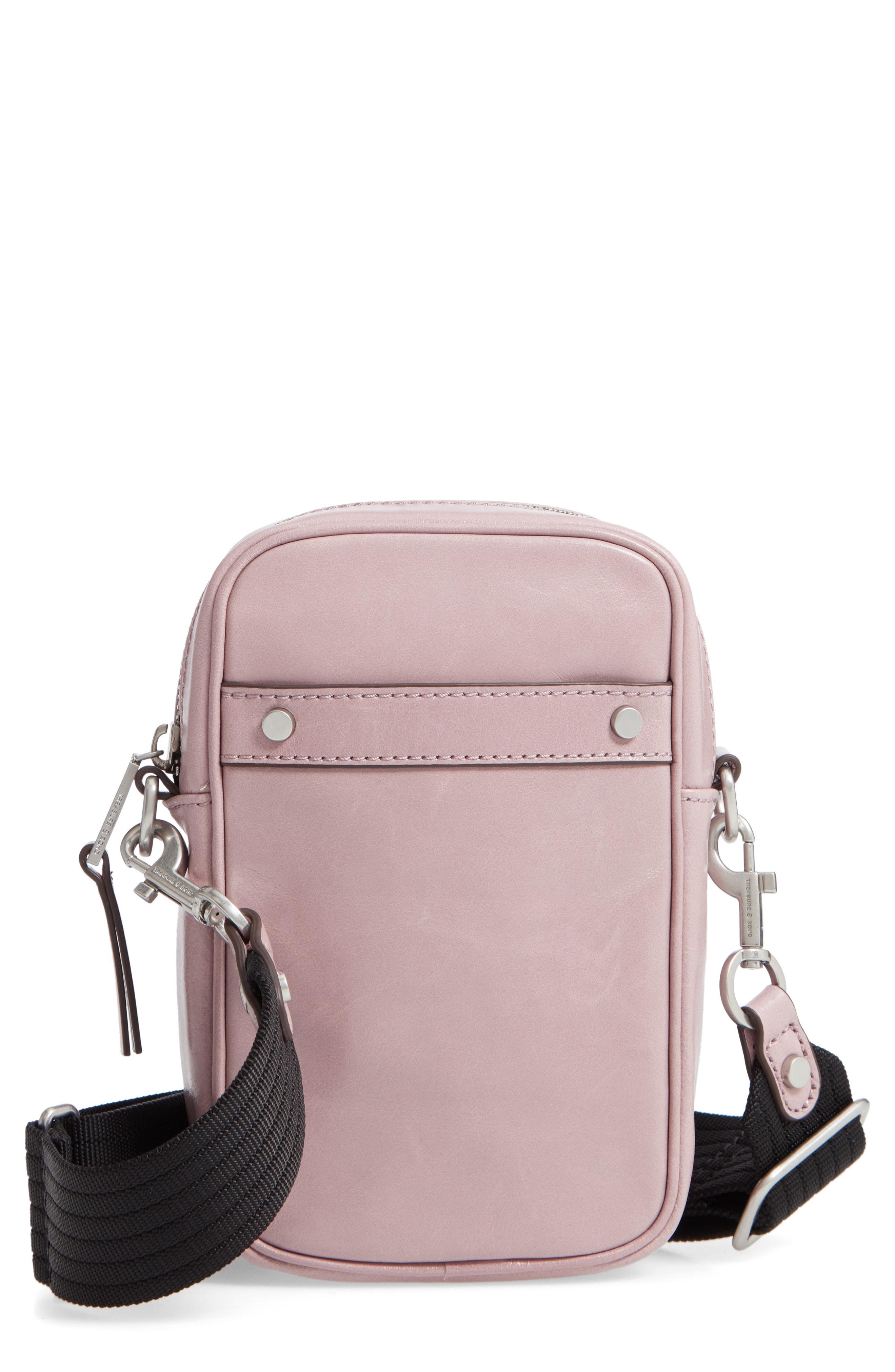 42e5316090c3 Lyst - Treasure & Bond Murphy Glazed Leather Crossbody Bag - Purple ...