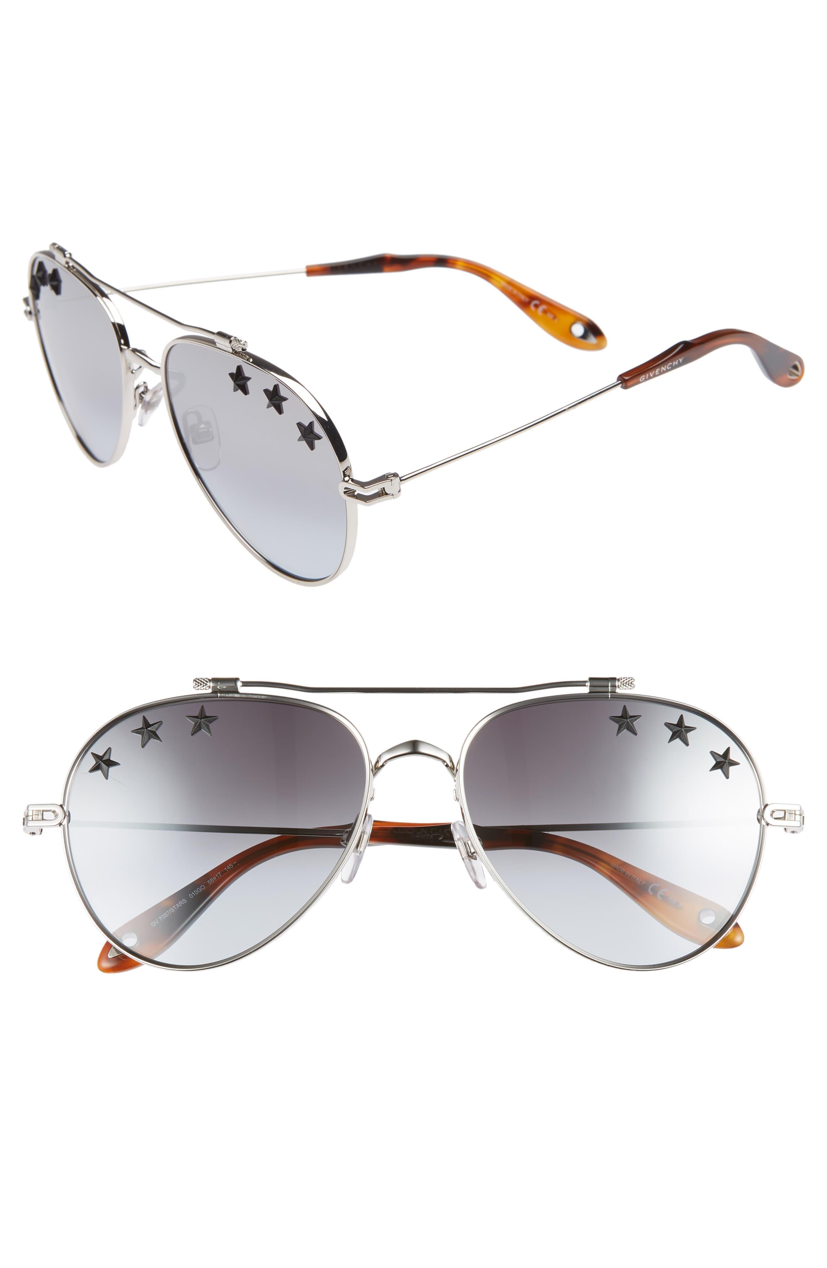7f86f9fbfc79 ... Aviator Sunglasses - Palladium/ Grey Azure - Lyst. View fullscreen