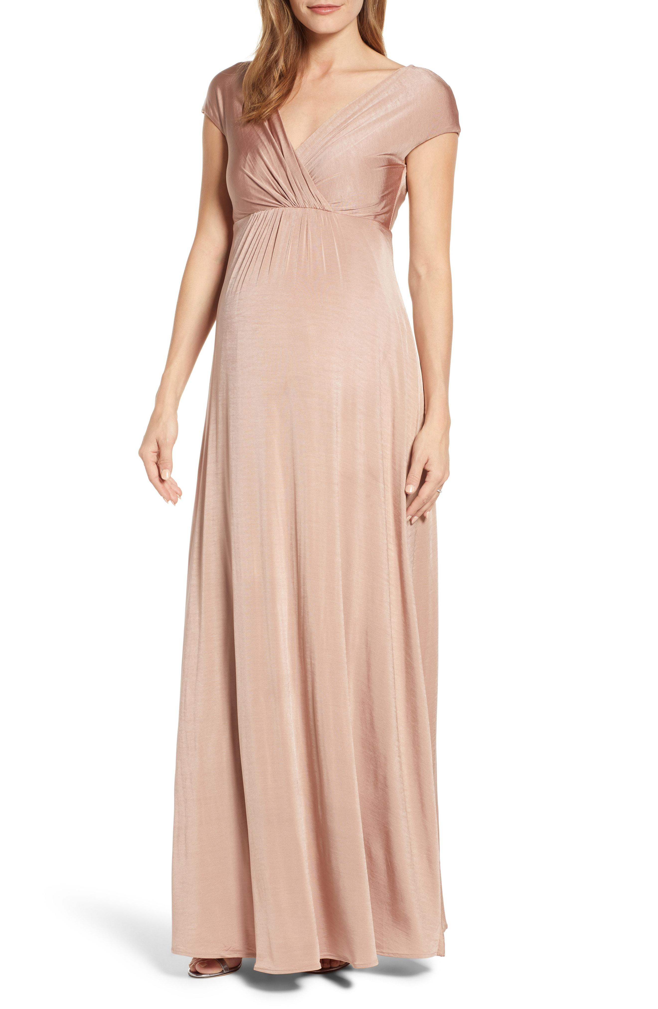 0ef3dba4884 Lyst - TIFFANY ROSE Francesca Maternity nursing Maxi Dress in Pink