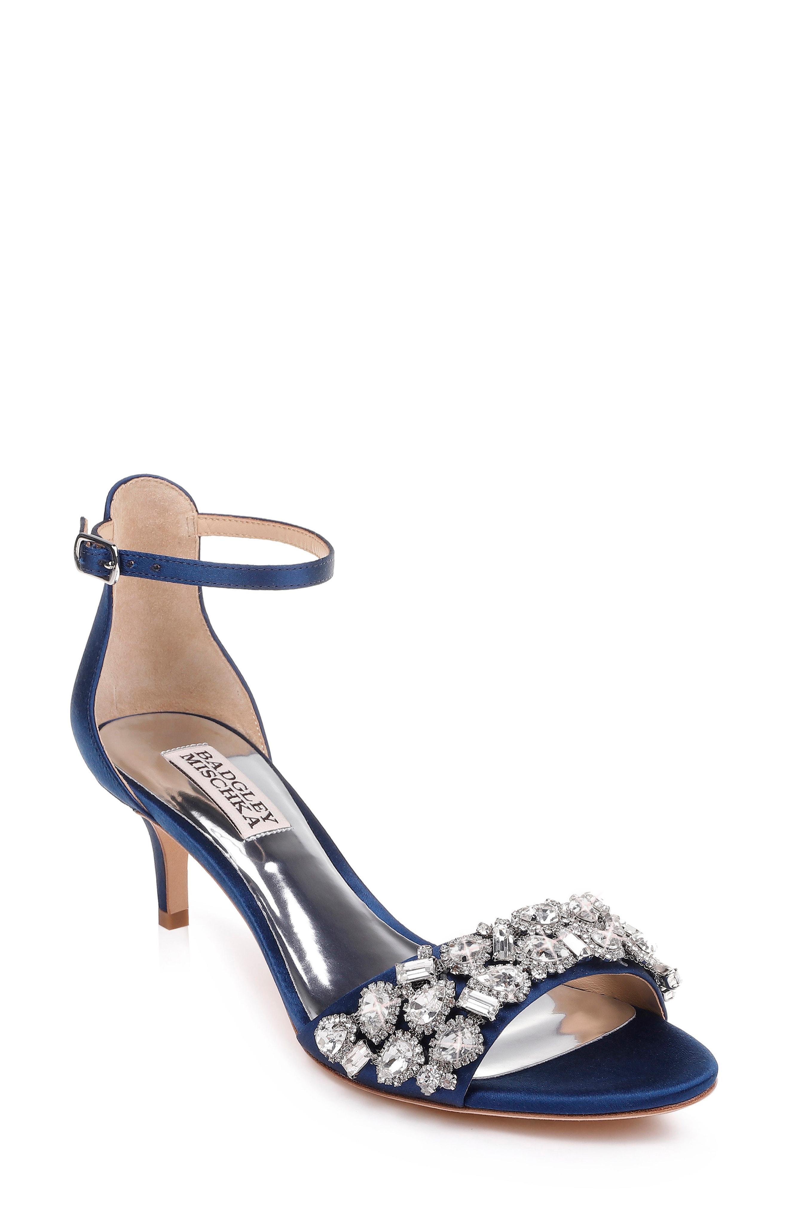 2907766f0468 Badgley Mischka. Women s Blue Badgley Mischka Lara Crystal Embellished  Sandal