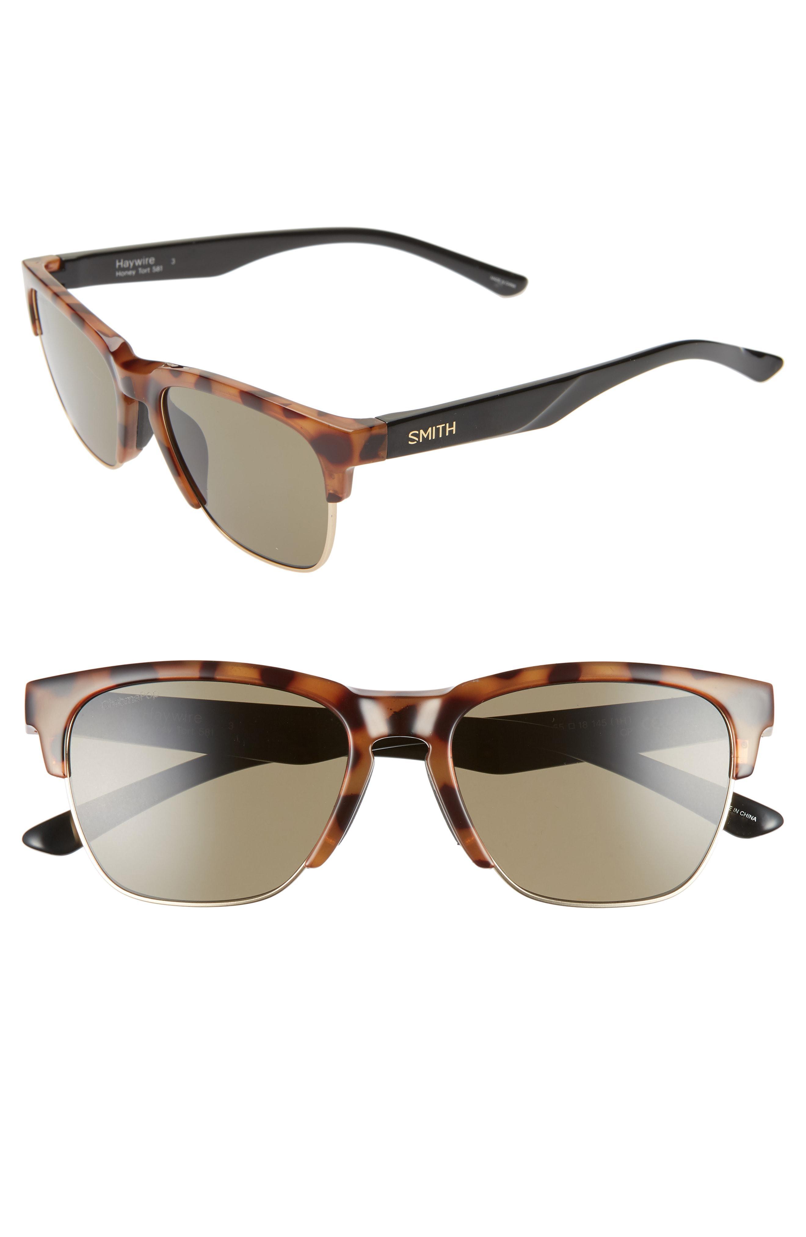 6d276f79535 Smith - Haywire 55mm Chromapop(tm) Polarized Sunglasses - Honey Tortoise   Green -. View fullscreen