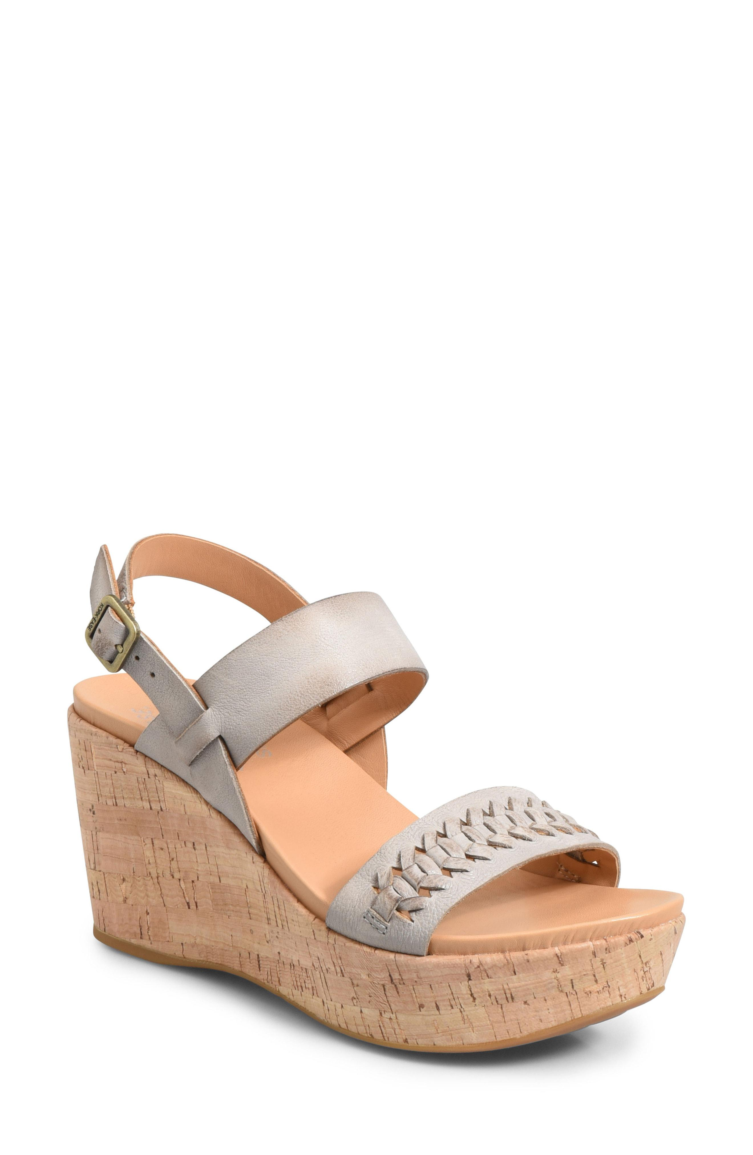 5356f422827 Lyst - Kork-Ease Kork-ease Austin Braid Wedge Sandal in Gray