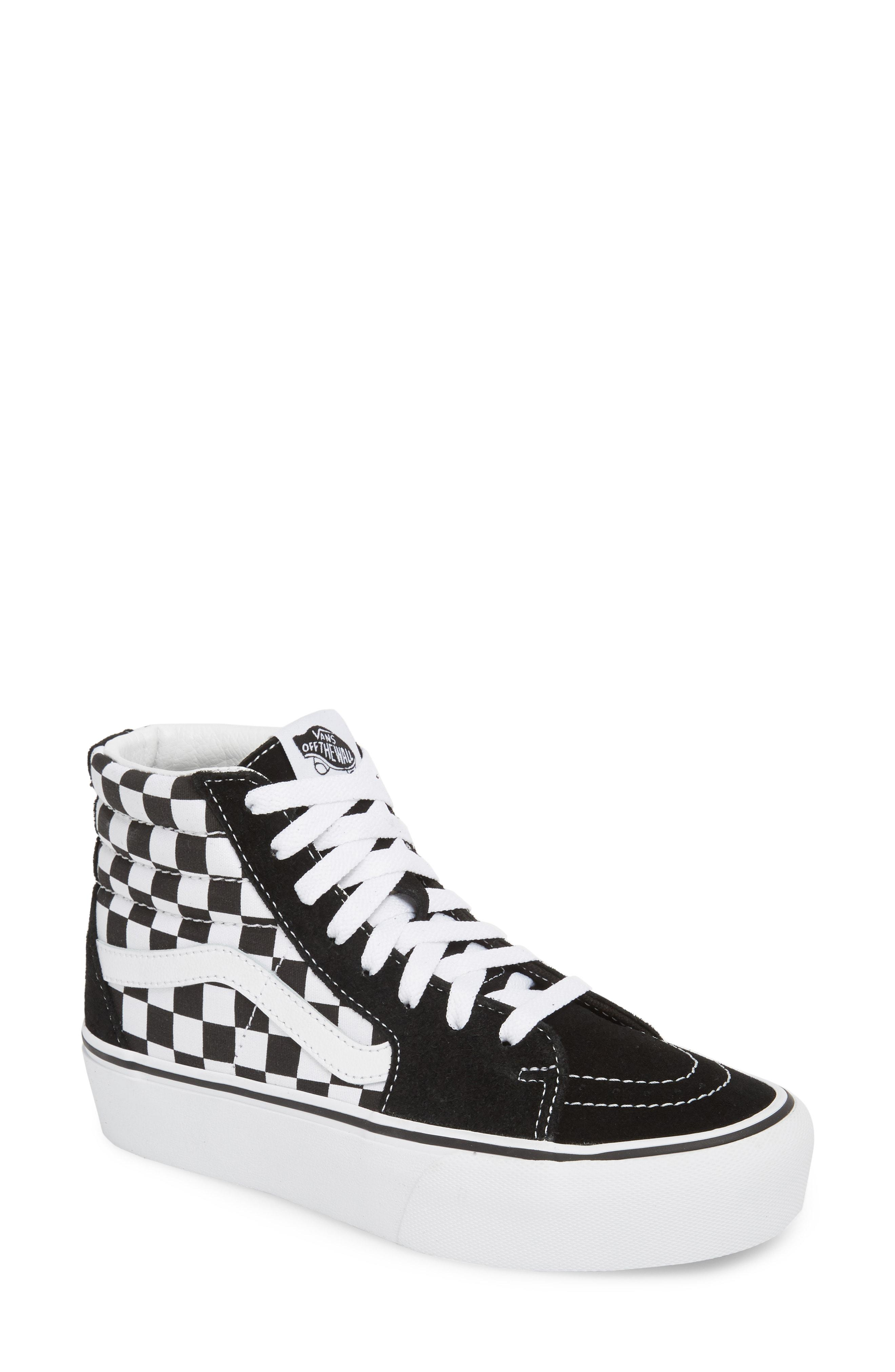 Vans Ua Sk8-hi Platform Checkerboard Sneaker in White - Lyst d886fee6c