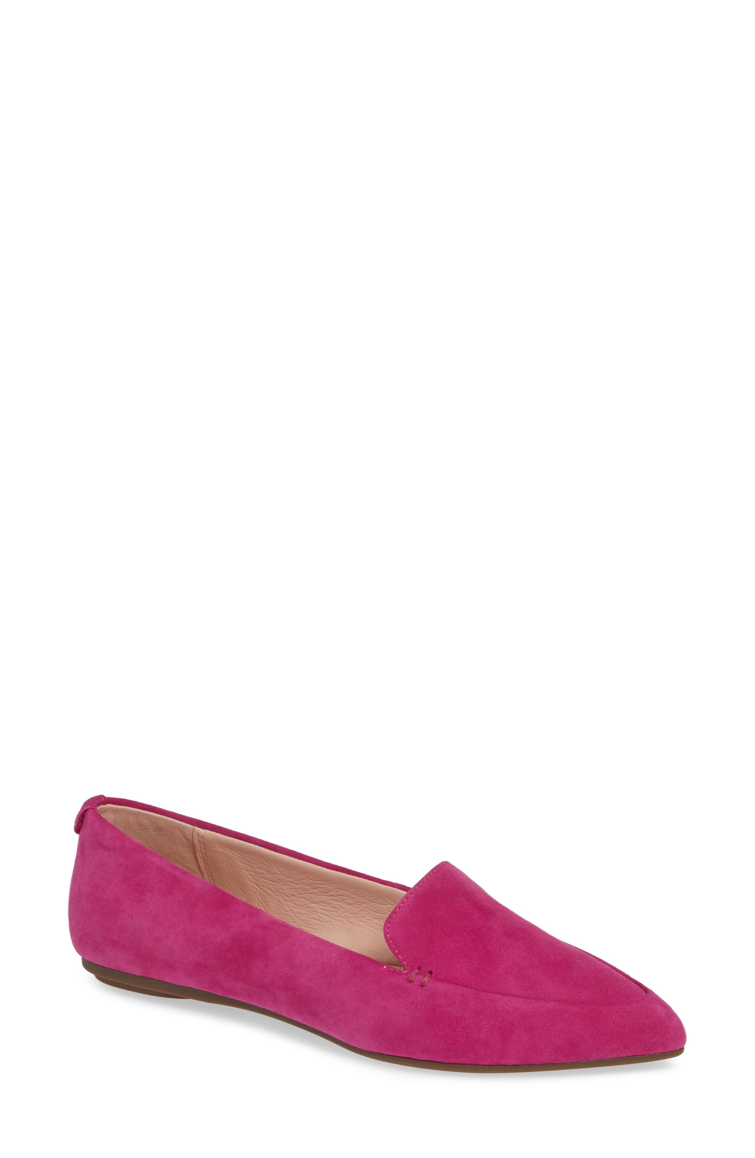 b284a186e8d Lyst - Taryn Rose Faye Pointy Toe Loafer in Pink