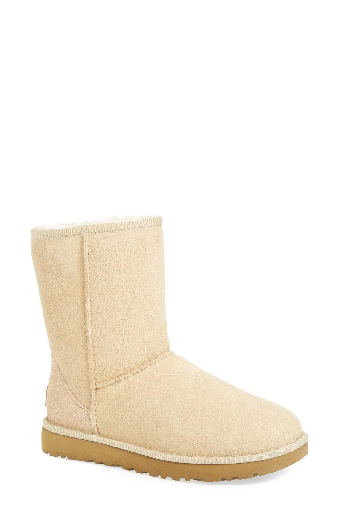 b67ef9ebd3e UGG. Women s Natural Ugg Classic Li Genuine Shearling Lined Short Boots.   160 From Nordstrom
