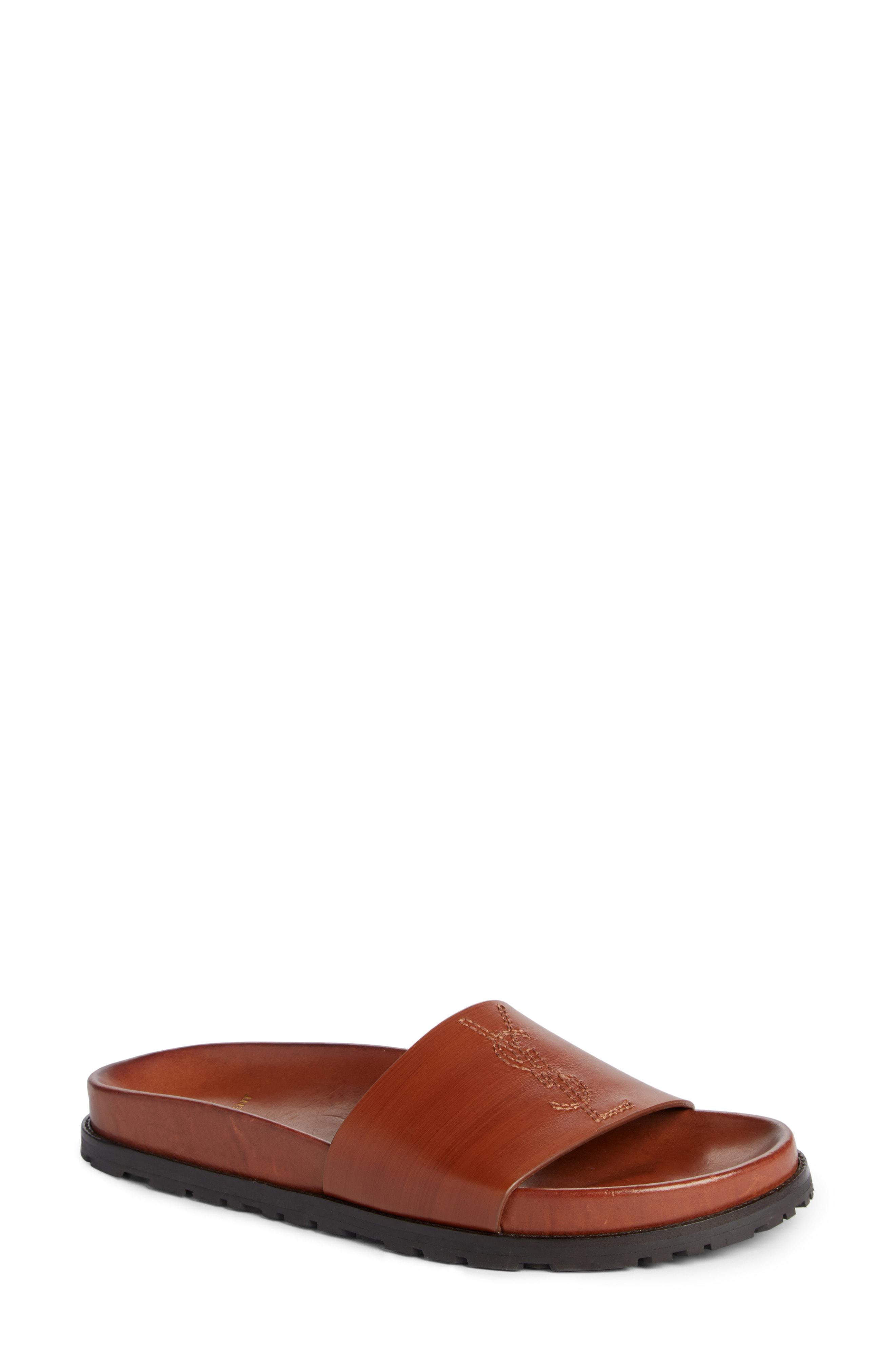 Jimmy Logo Slide Sandal by Saint Laurent, available on nordstrom.com Olivia Culpo Shoes Exact Product