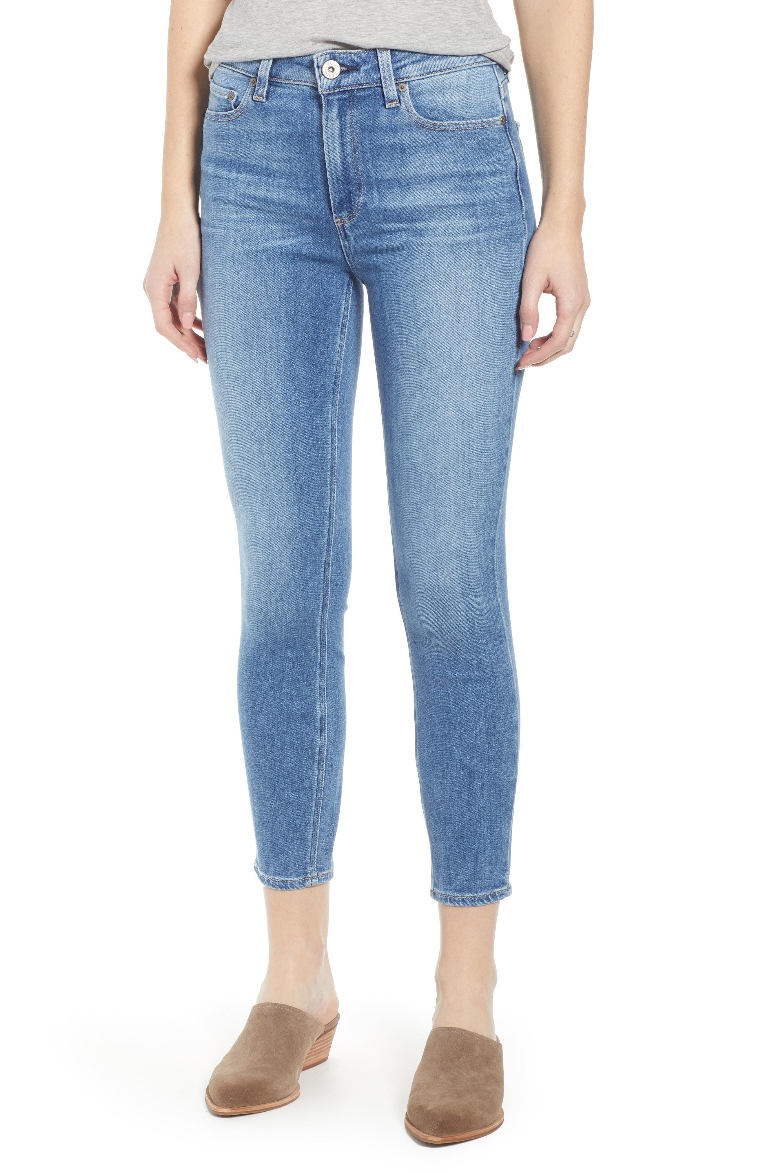 5eec231471dd8 PAIGE. Women s Blue Transcend Vintage - Hoxton High Waist Crop Skinny Jeans