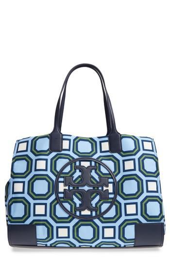 dc1d5ca4abdf Lyst - Tory Burch Ella Octagon Print Nylon Tote in Blue