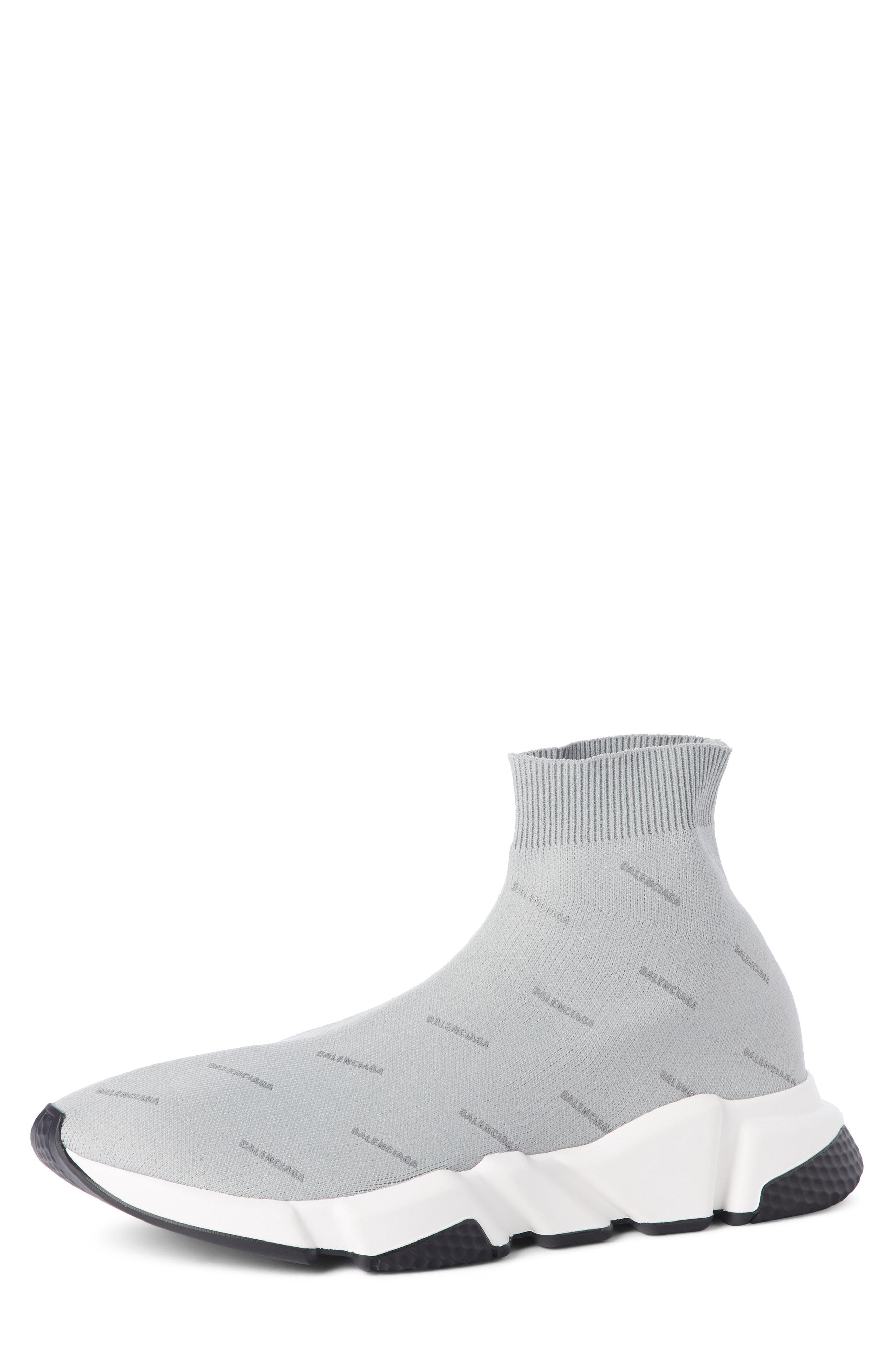 Balenciaga Denim Speed Knit Sneakers in