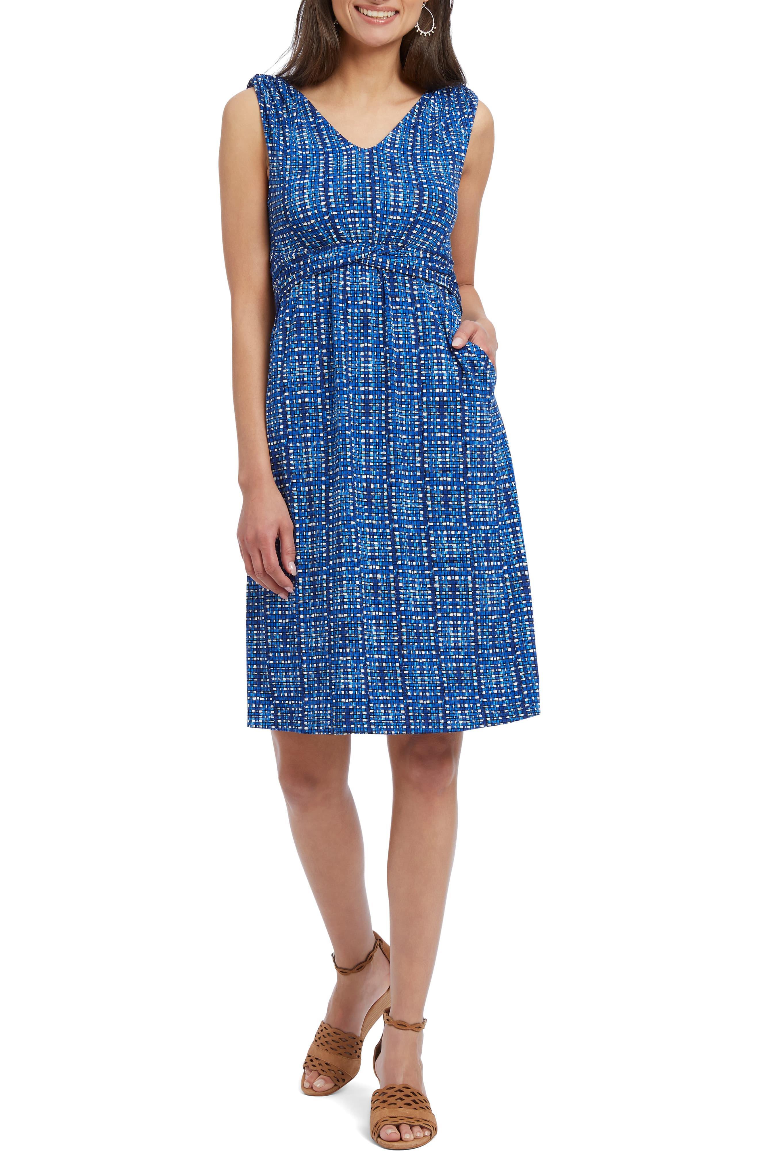 "New $125 Women's ""Sperry"" Blue//White Anchor Sleeveless Summer Dress Size S /& L"