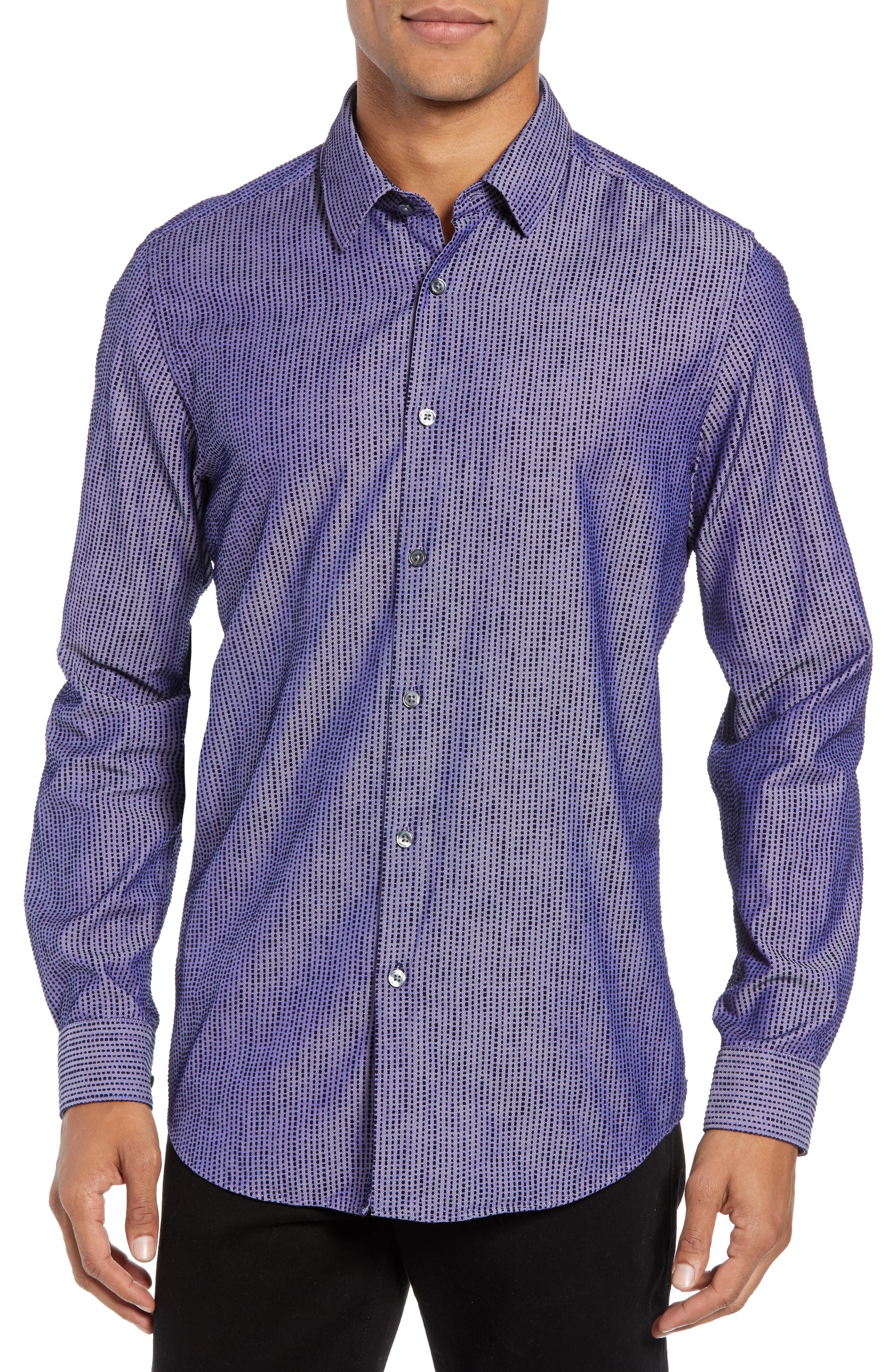 c87d058c Lyst - Boss Lukas Regular Fit Sport Shirt in Blue for Men