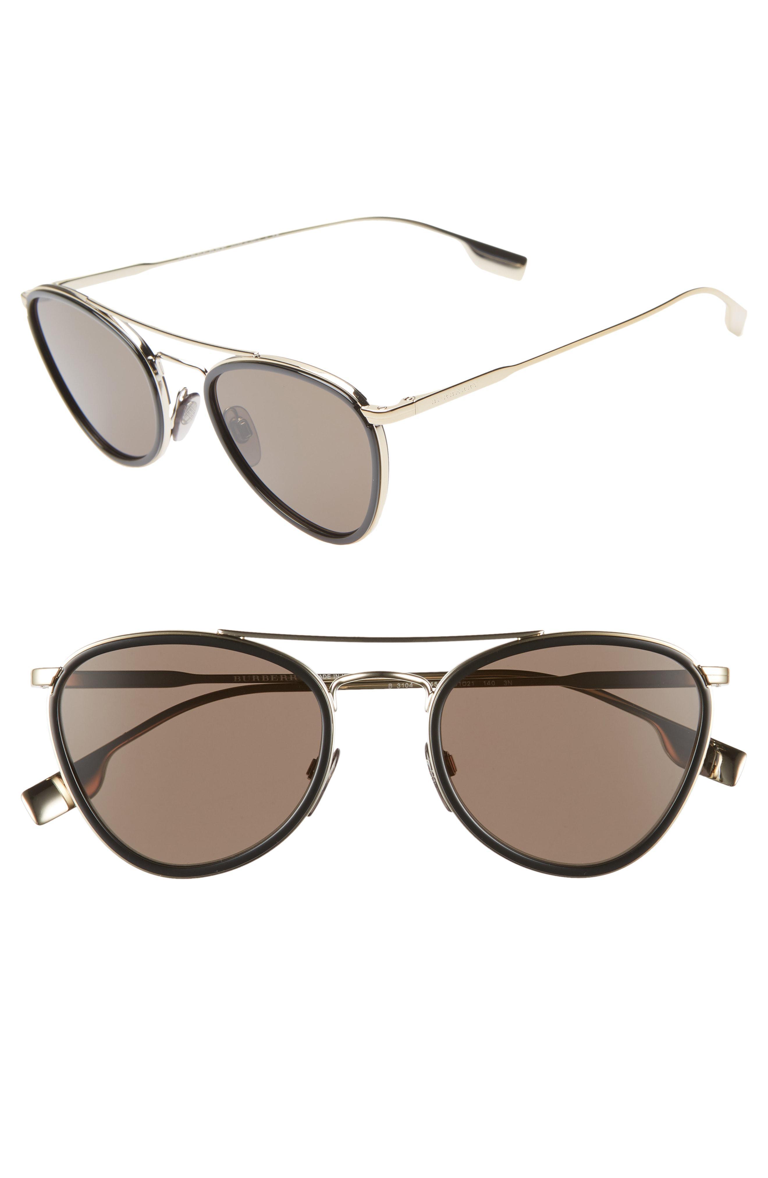 9d56c2852e Burberry. Women s 51mm Aviator Sunglasses -