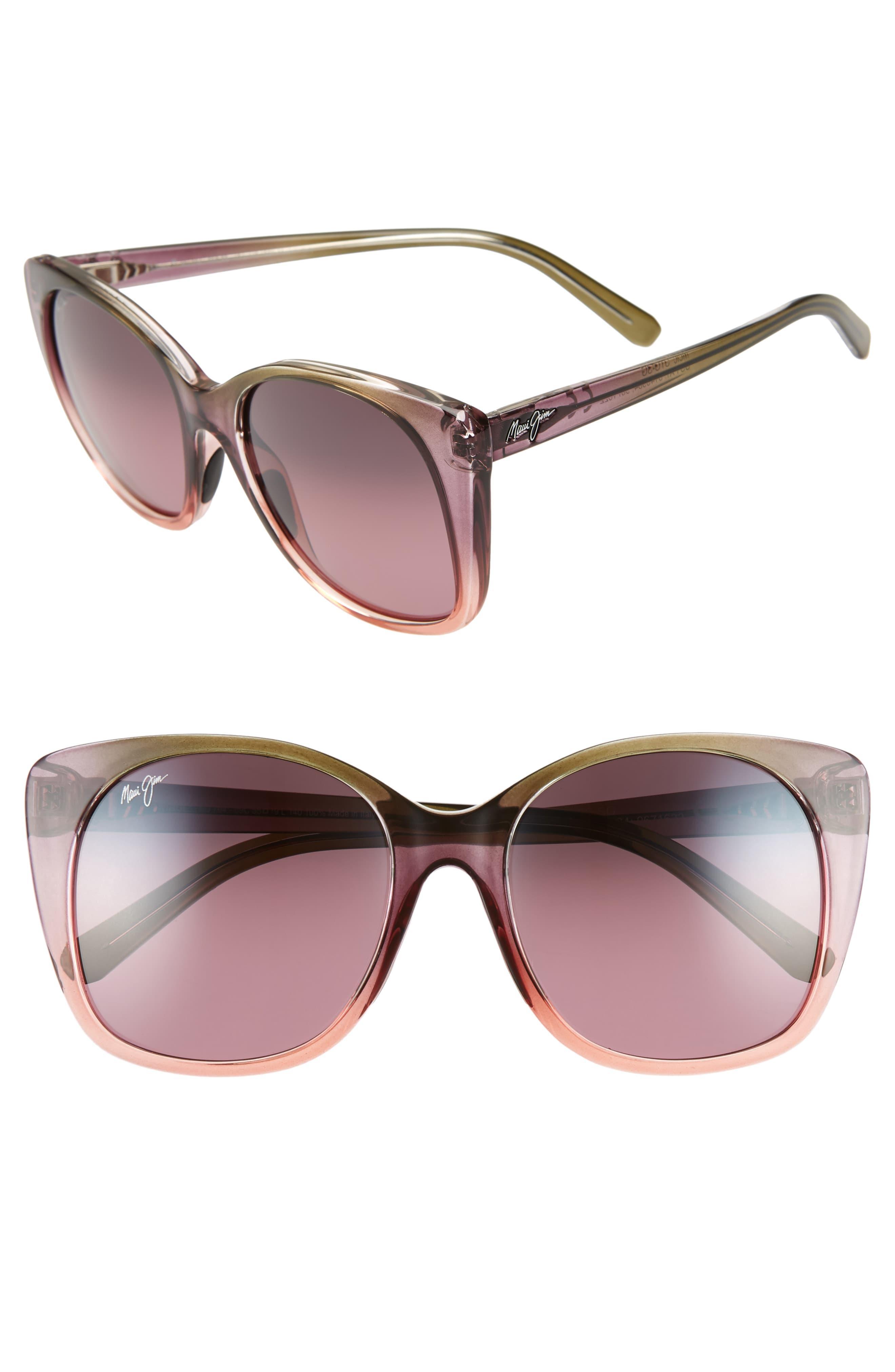 a917aa16db Maui Jim Alekona 55mm Sunglasses - Blush/ Mossy/ Peach in Pink - Lyst