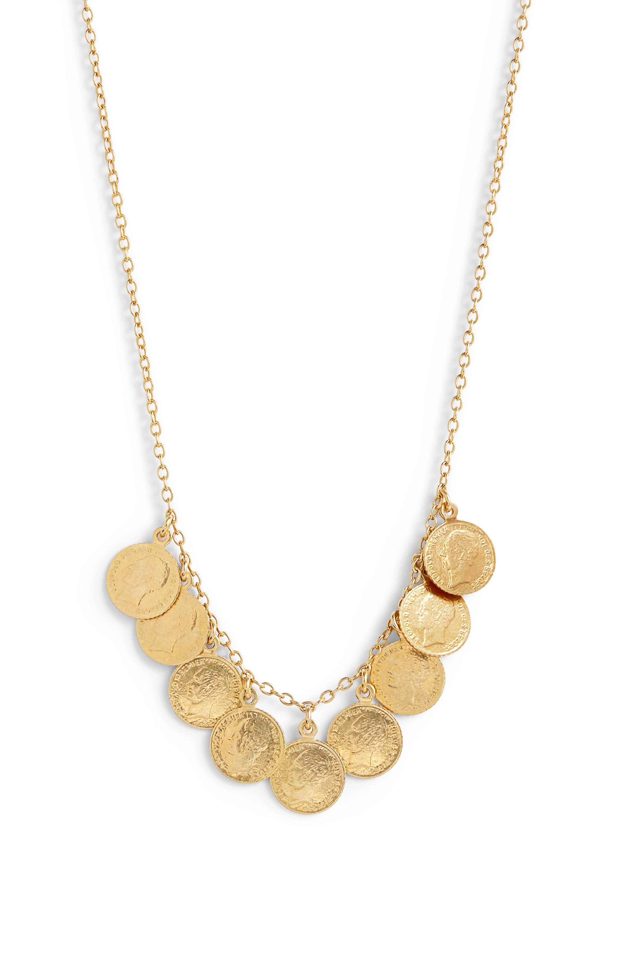 antique coin necklace
