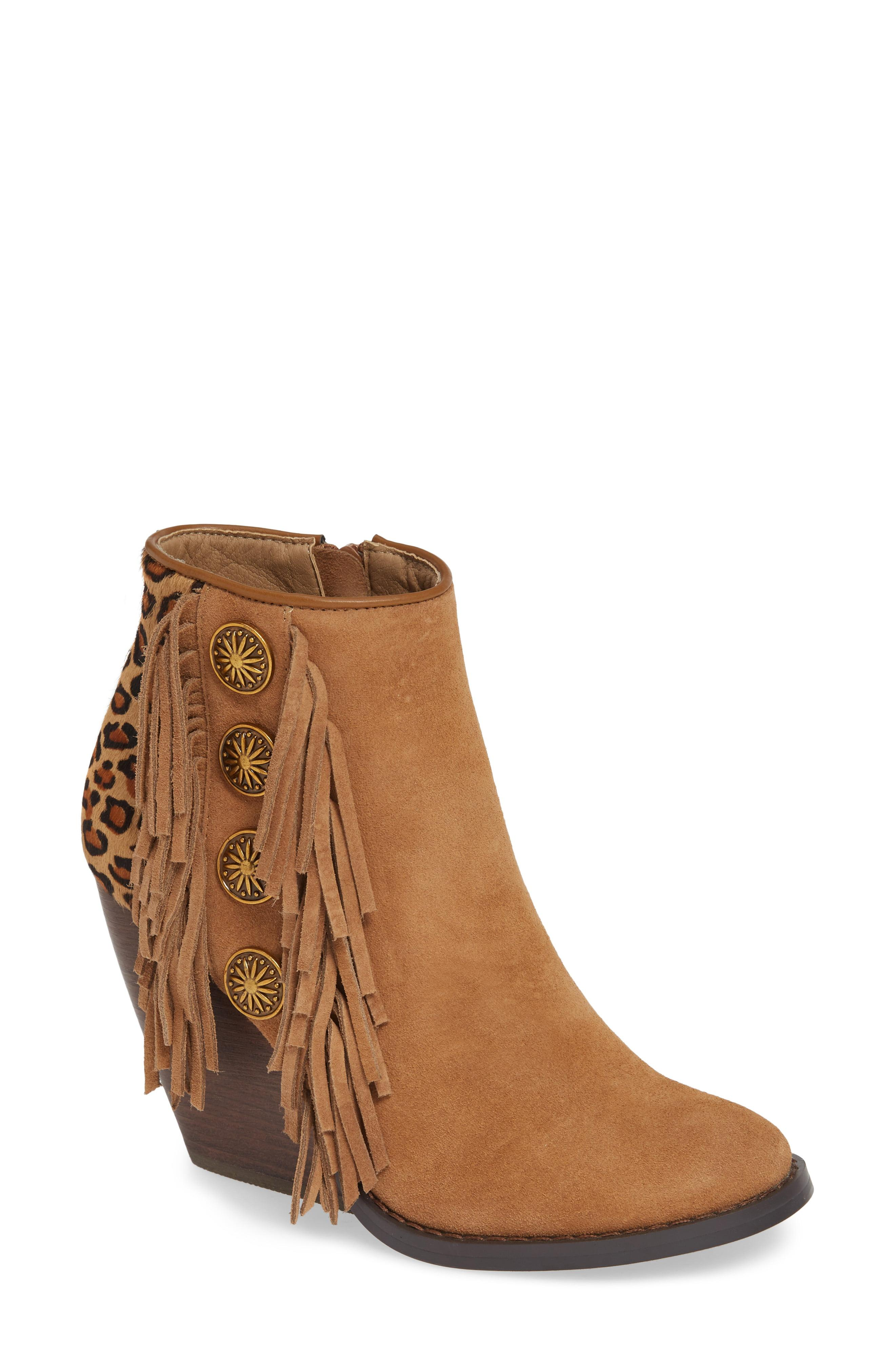 68a9c8e332b2 Lyst - Very Volatile Bellflower Genuine Calf Hair Bootie in Brown