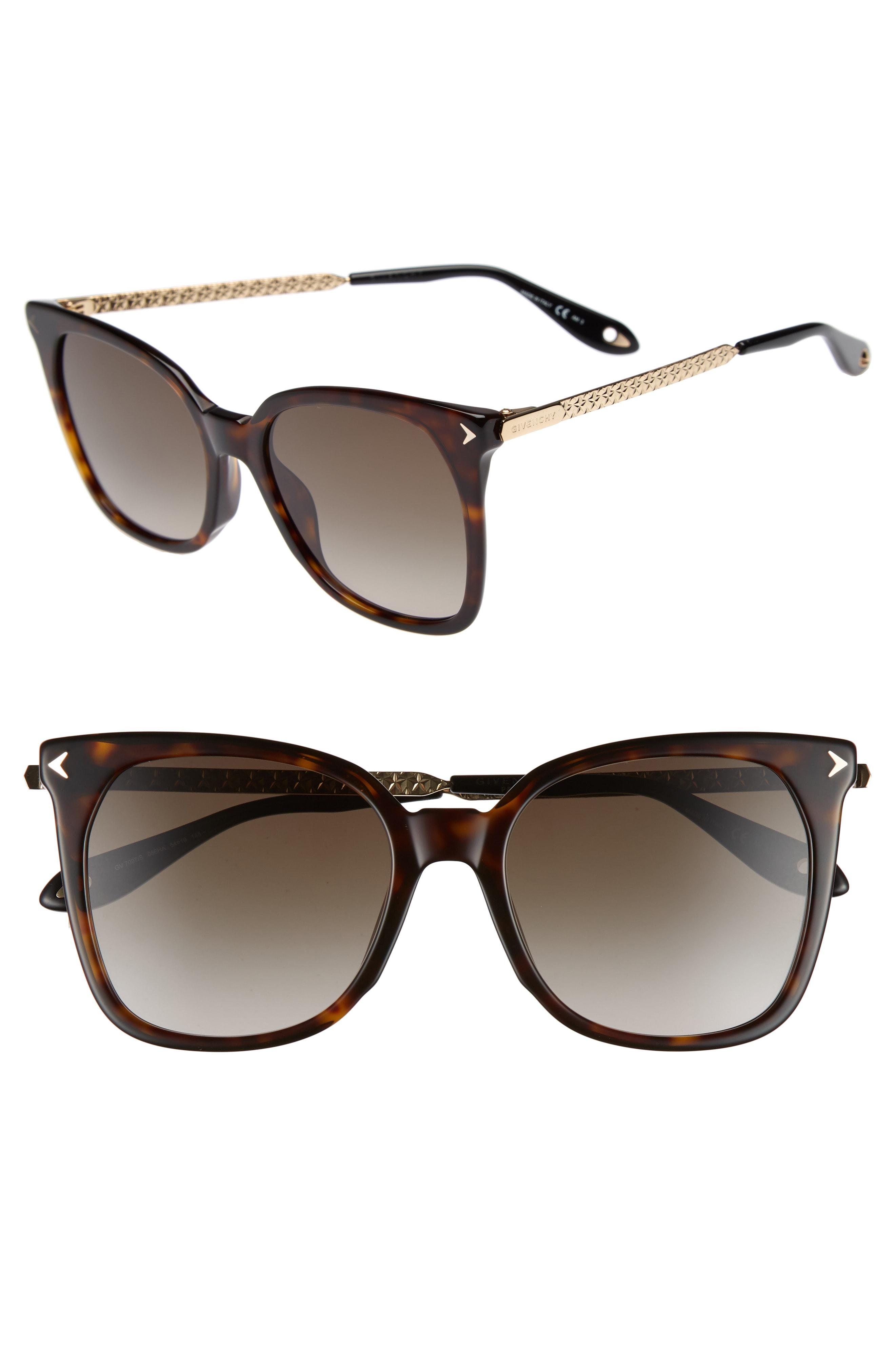 f9219d49f801 Lyst - Givenchy 54mm Square Sunglasses - Dark Havana in Brown