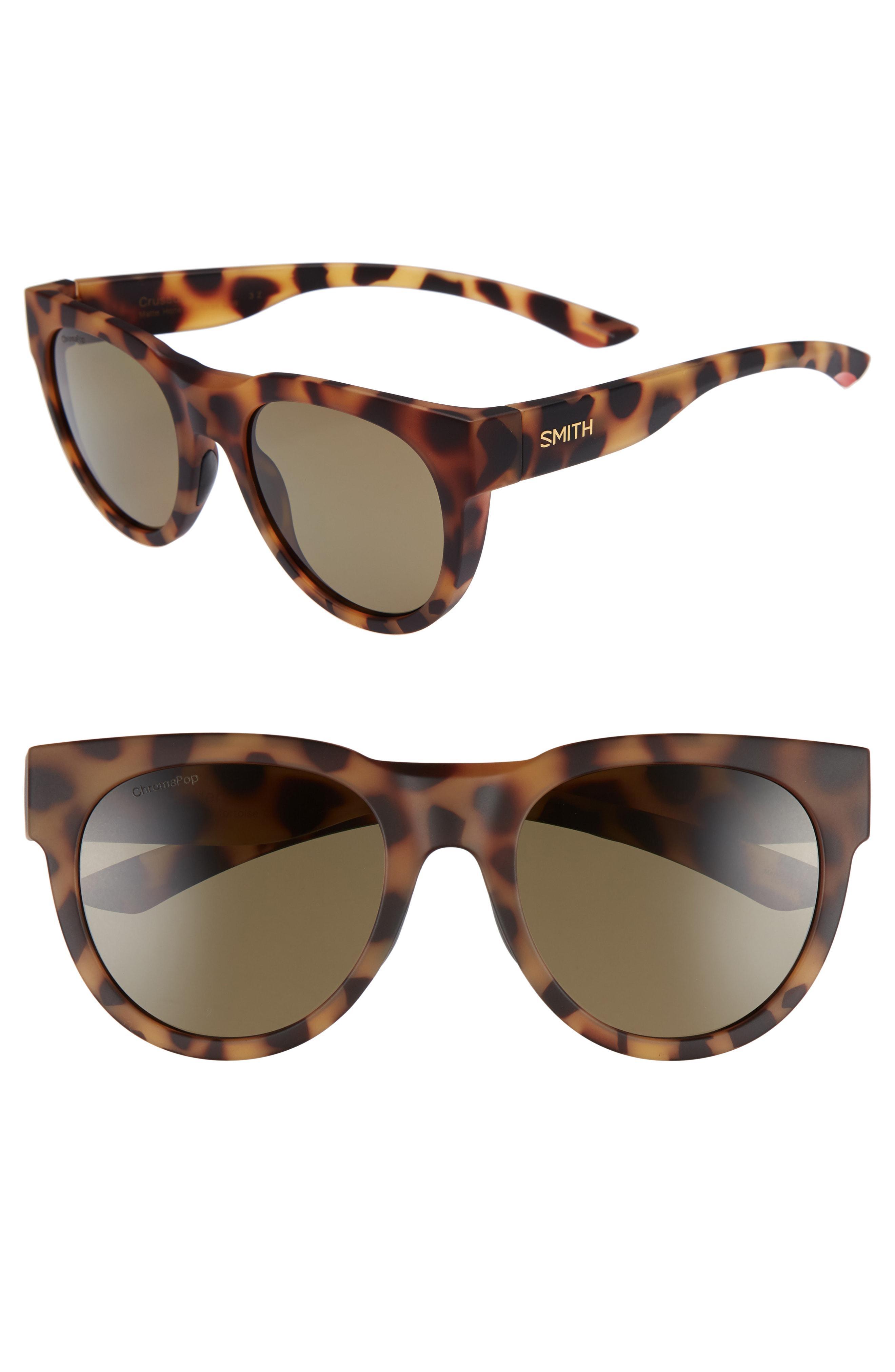 c50b9993a5 Lyst - Smith Crusader 53mm Chromapop(tm) Round Sunglasses in Brown