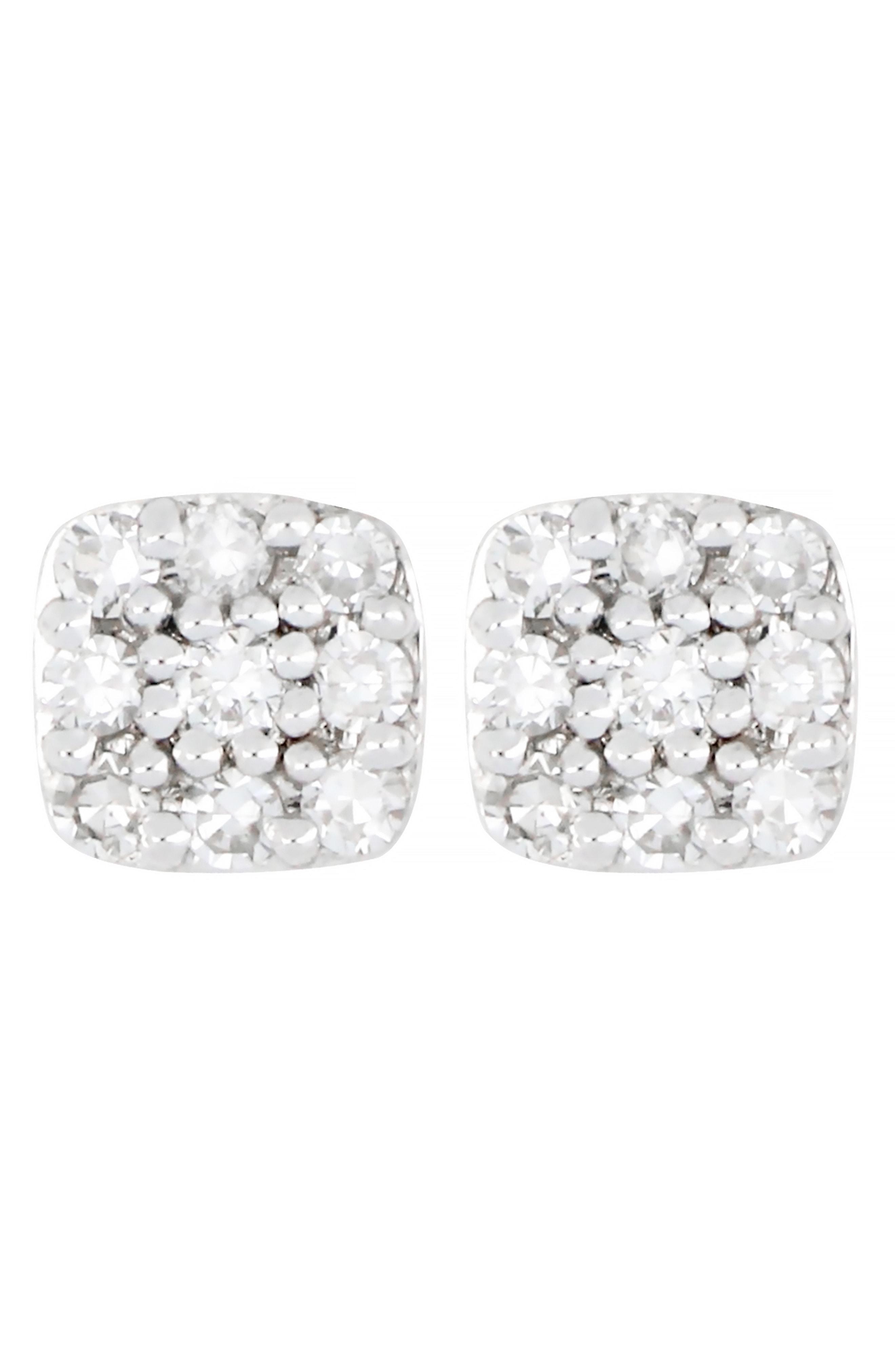 c1208651b CARRIERE JEWELRY. Women's Metallic Carriere Diamond Square Stud Earrings ...