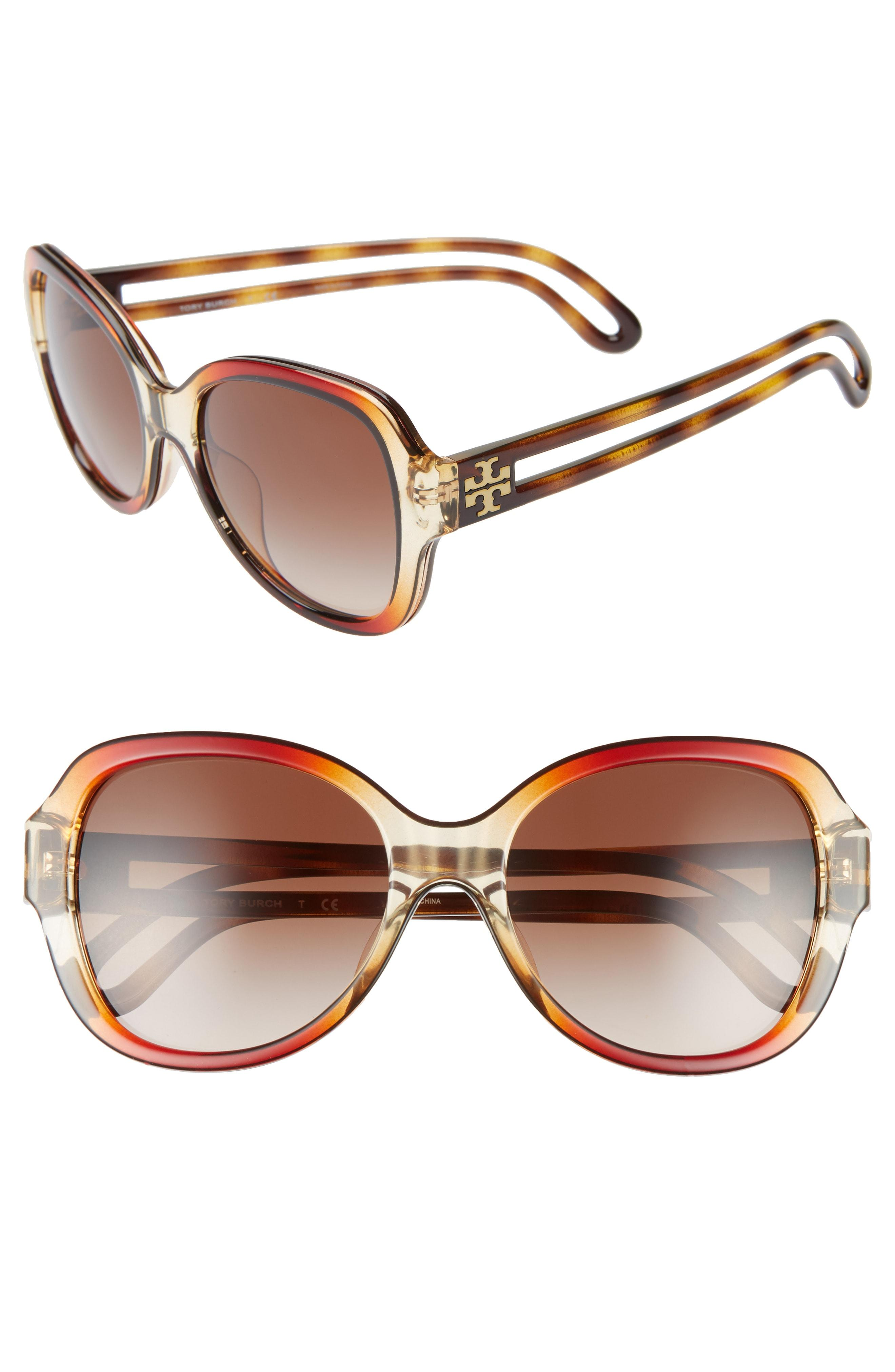 ca732addfb Lyst - Tory Burch 55mm Gradient Butterfly Sunglasses - in Brown