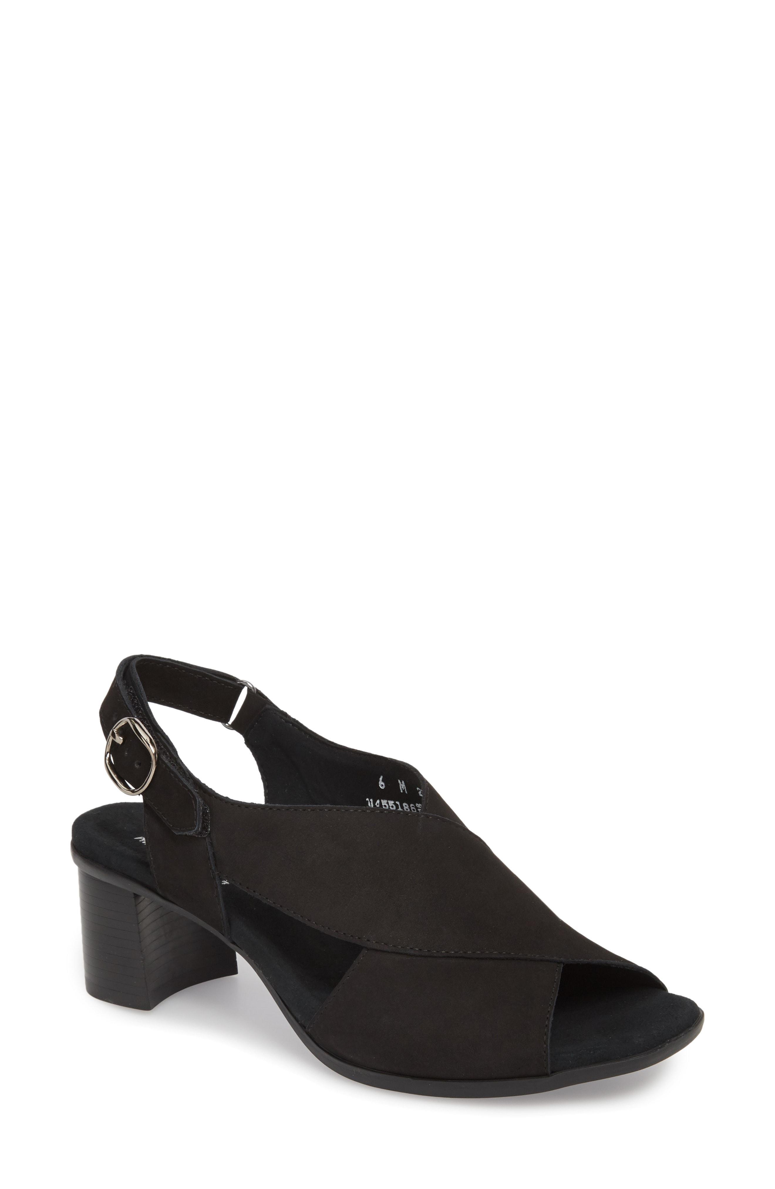 7cd88fd833f Lyst - Munro Laine Block Heel Sandal in Black - Save 60%