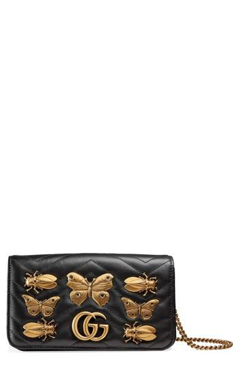 1d8413462417 Lyst - Gucci Gg Marmont 2.0 Animal Stud Matelasse Leather Shoulder ...