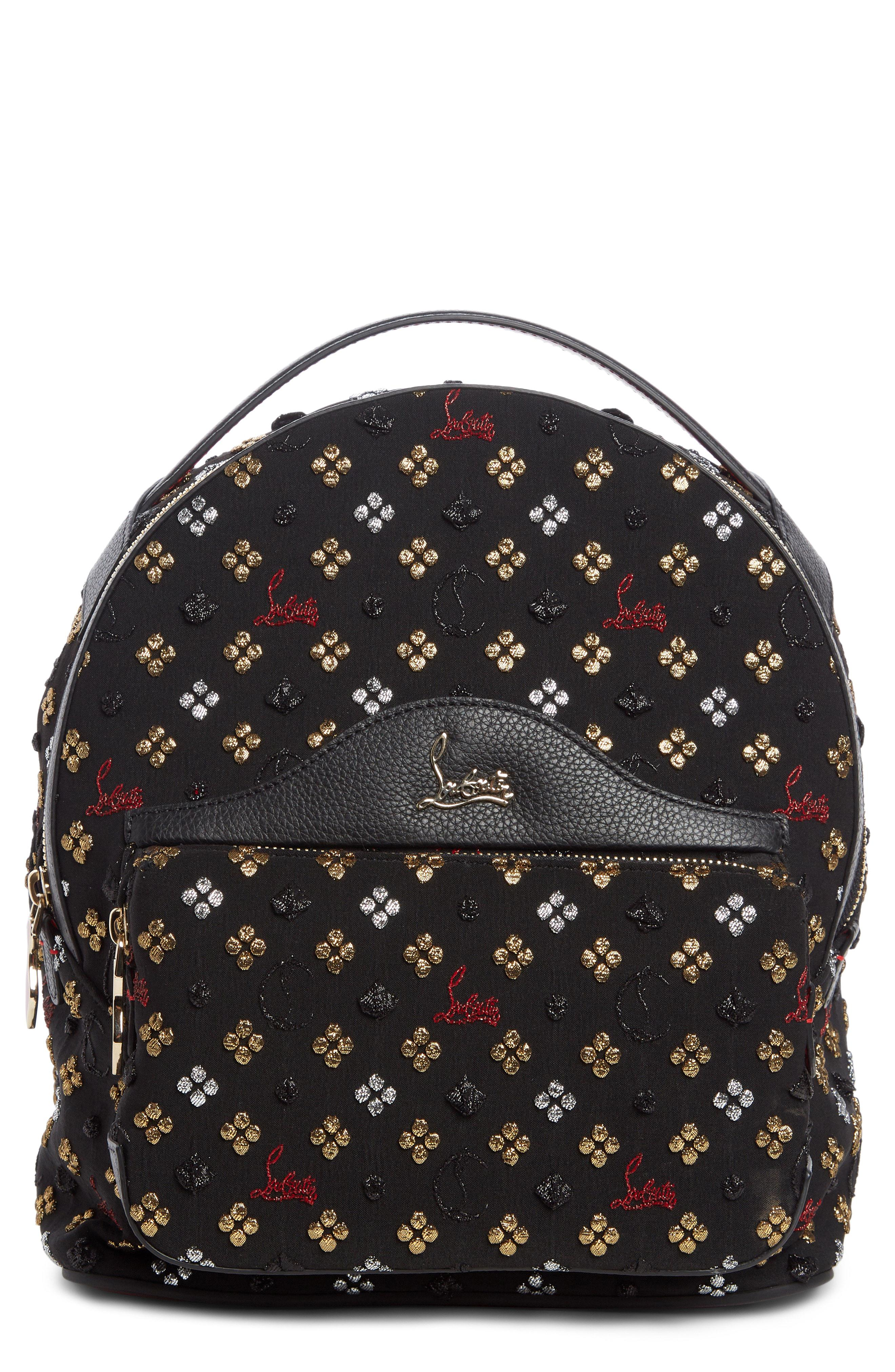 ba7bdb0dce6 Christian Louboutin Small Backloubi Metallic Jacquard Backpack -