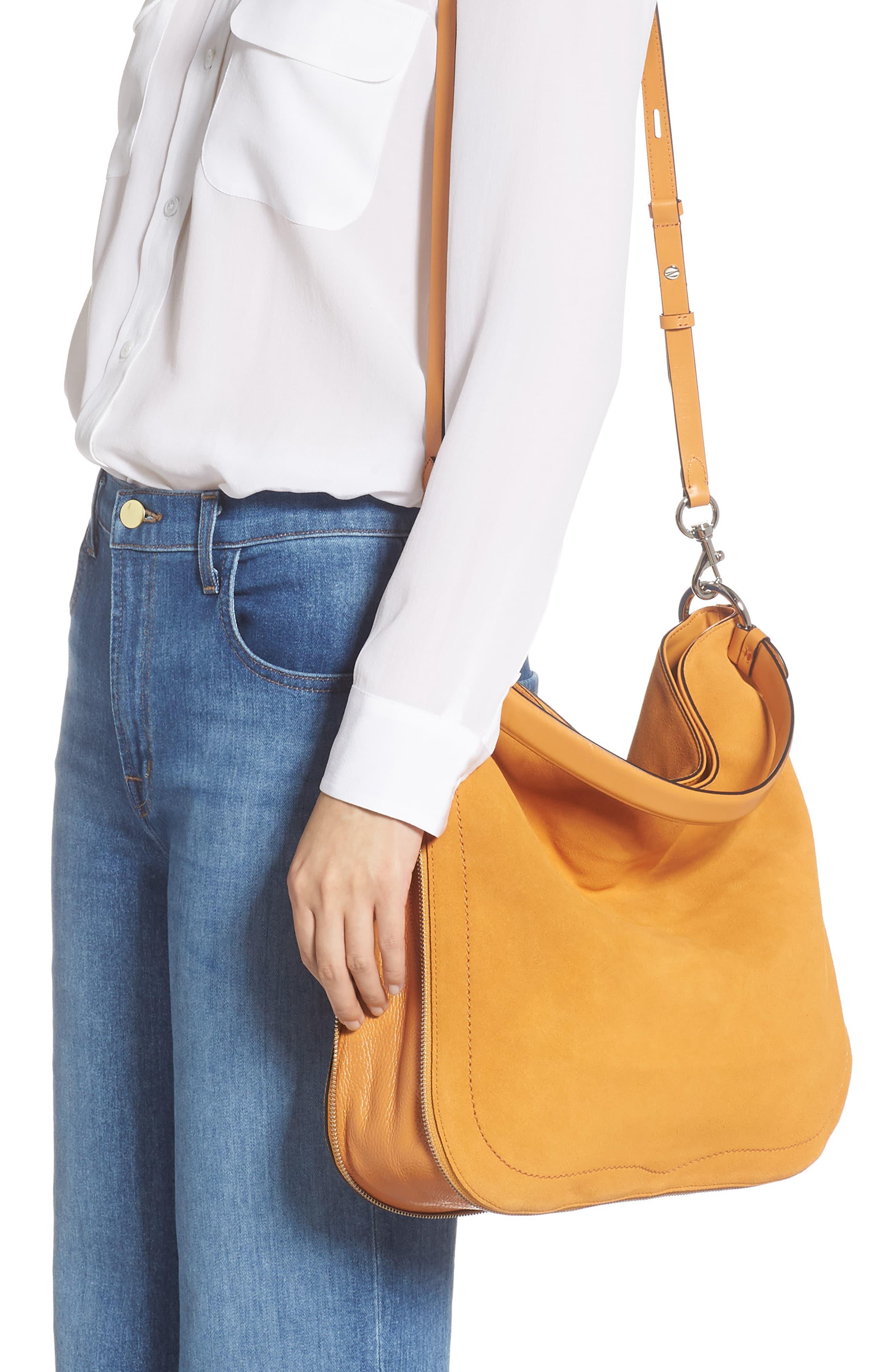 Jody Convertible Leather Hobo Bag