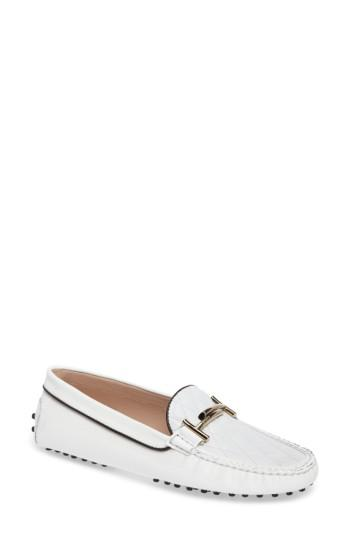 latest discount cheap famous brand Tod's Double T Quilted Gommino Loafer in White - Lyst