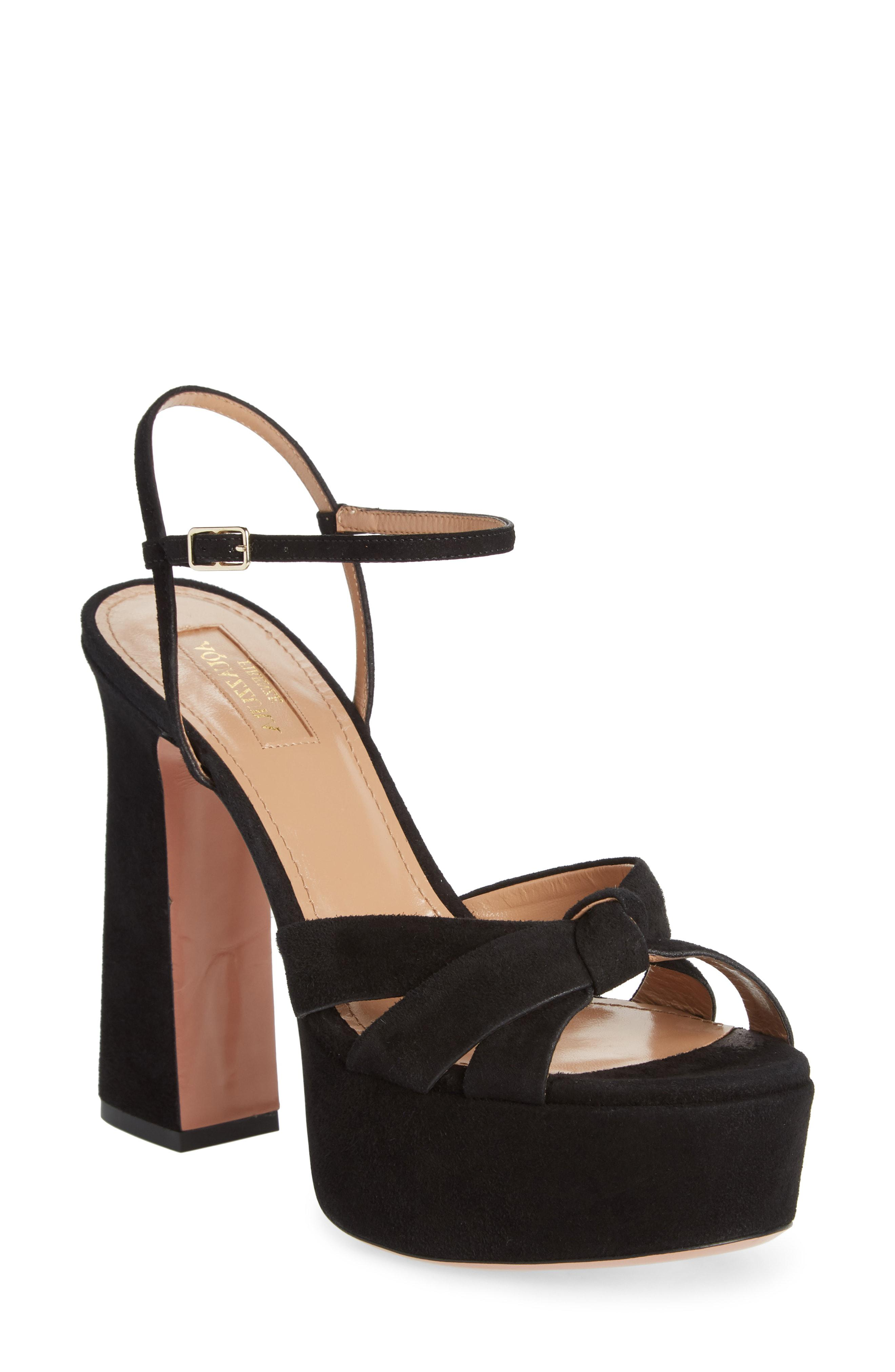 d7a6551a48f Lyst - Aquazzura Baba Platform Sandal in Black - Save 50%