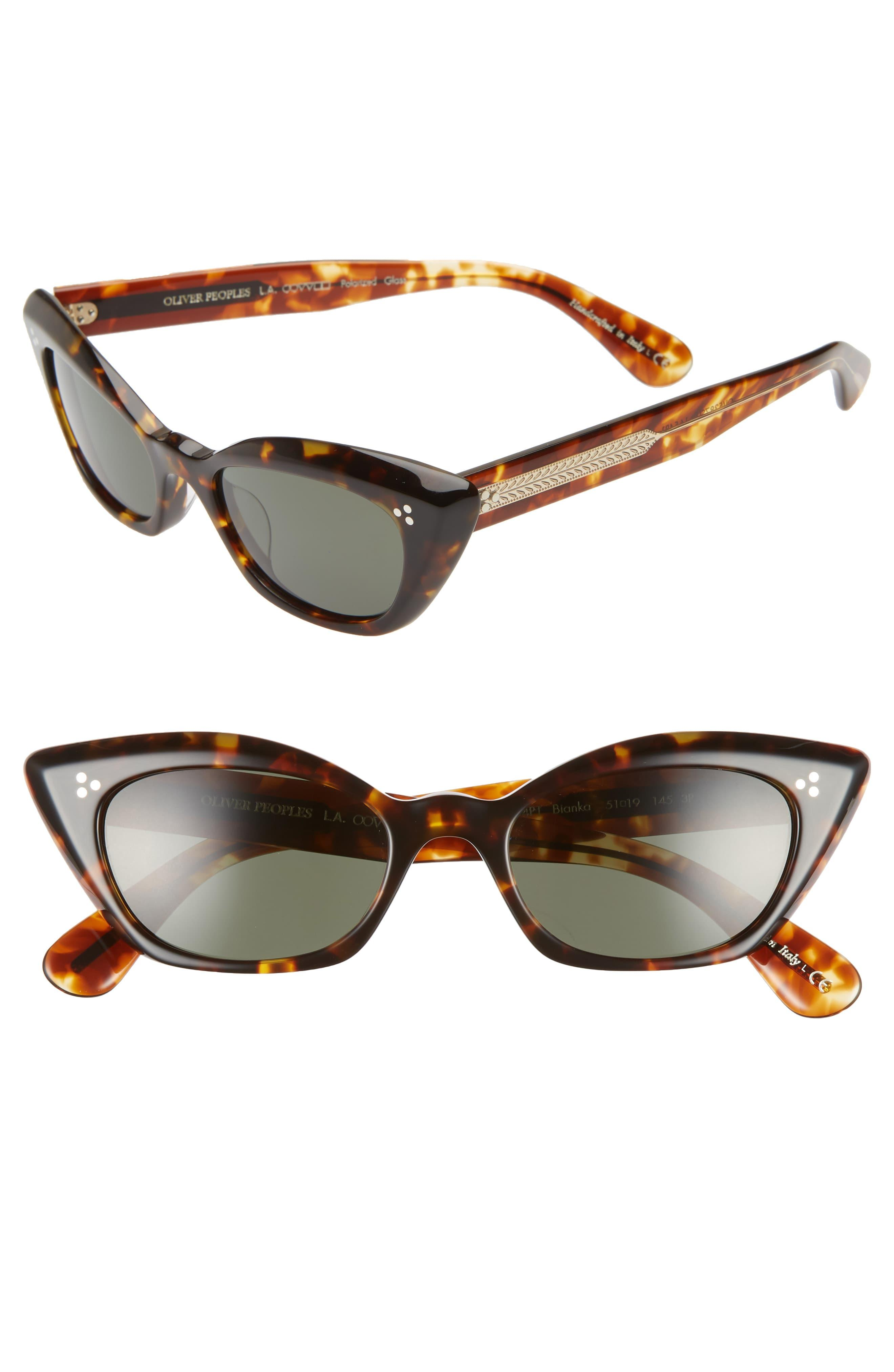 77914310c7c3 Oliver Peoples Bianka 51mm Polarized Cat Eye Sunglasses - in Brown ...