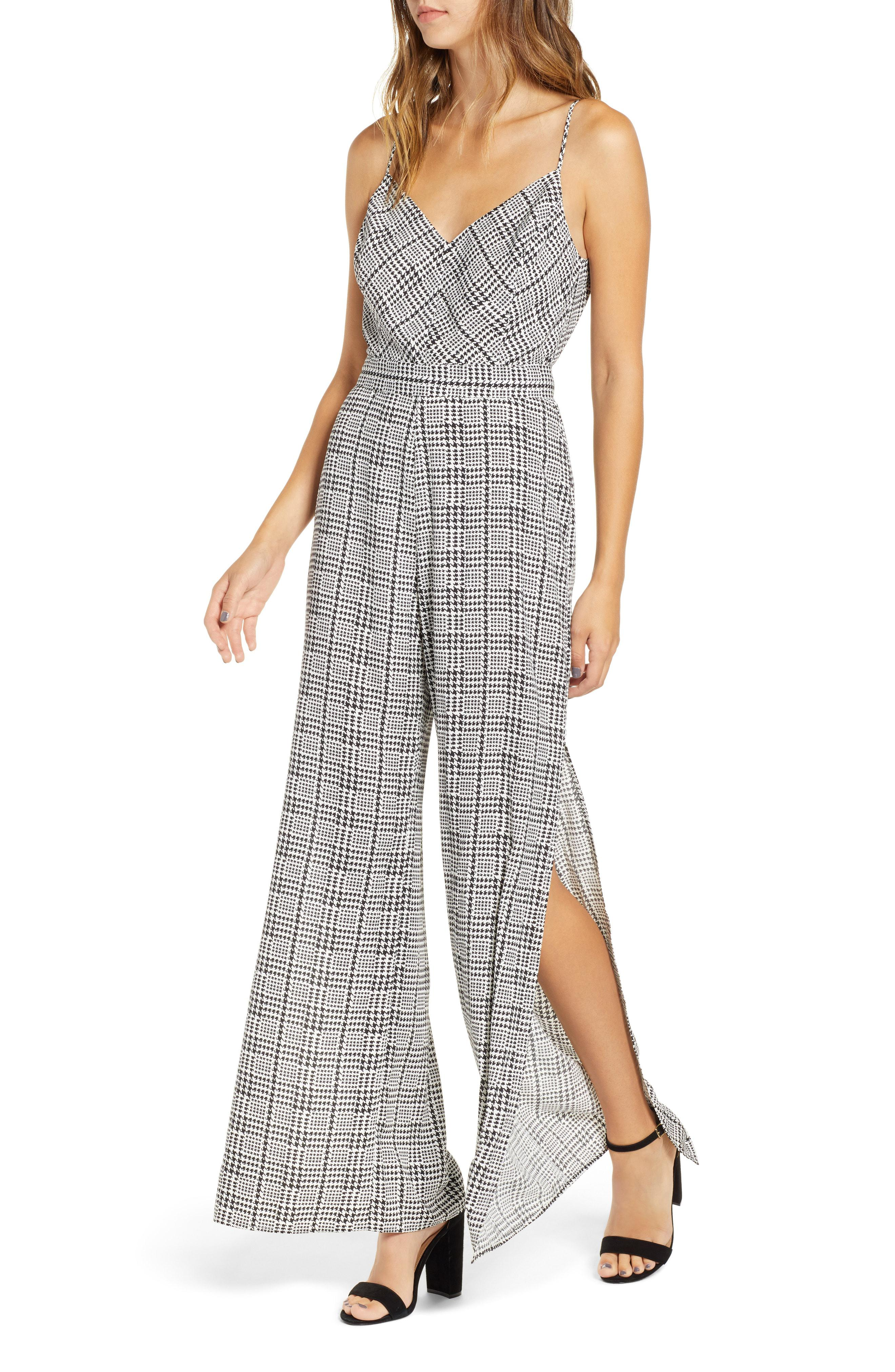 076ef94456b Lyst - Nordstrom Plaid Jumpsuit in Gray