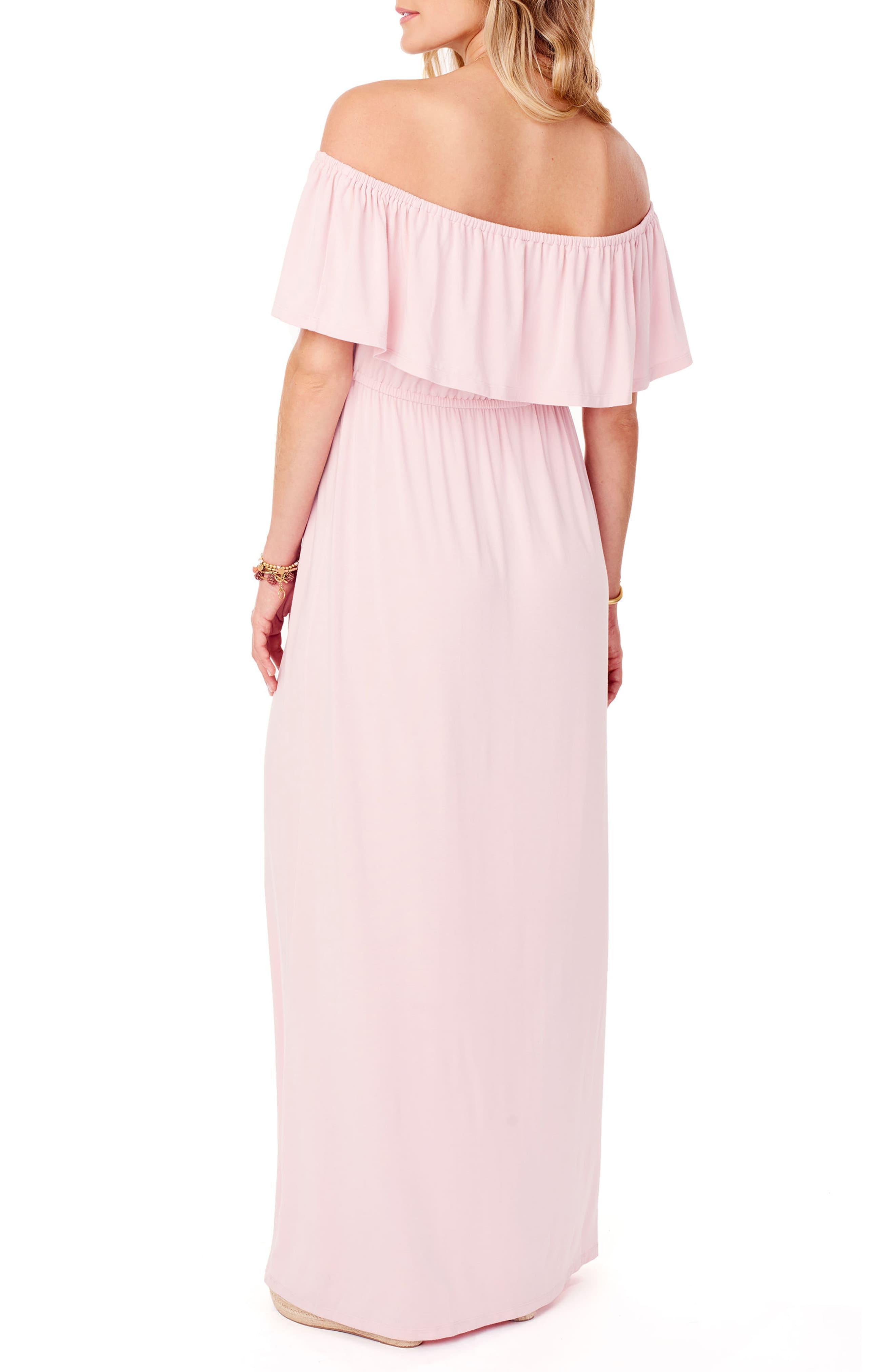 dfb731cd6e2a7 Ingrid & Isabel - Pink Maternity Off - The - Shoulder Maxi Dress - Lyst.  View fullscreen