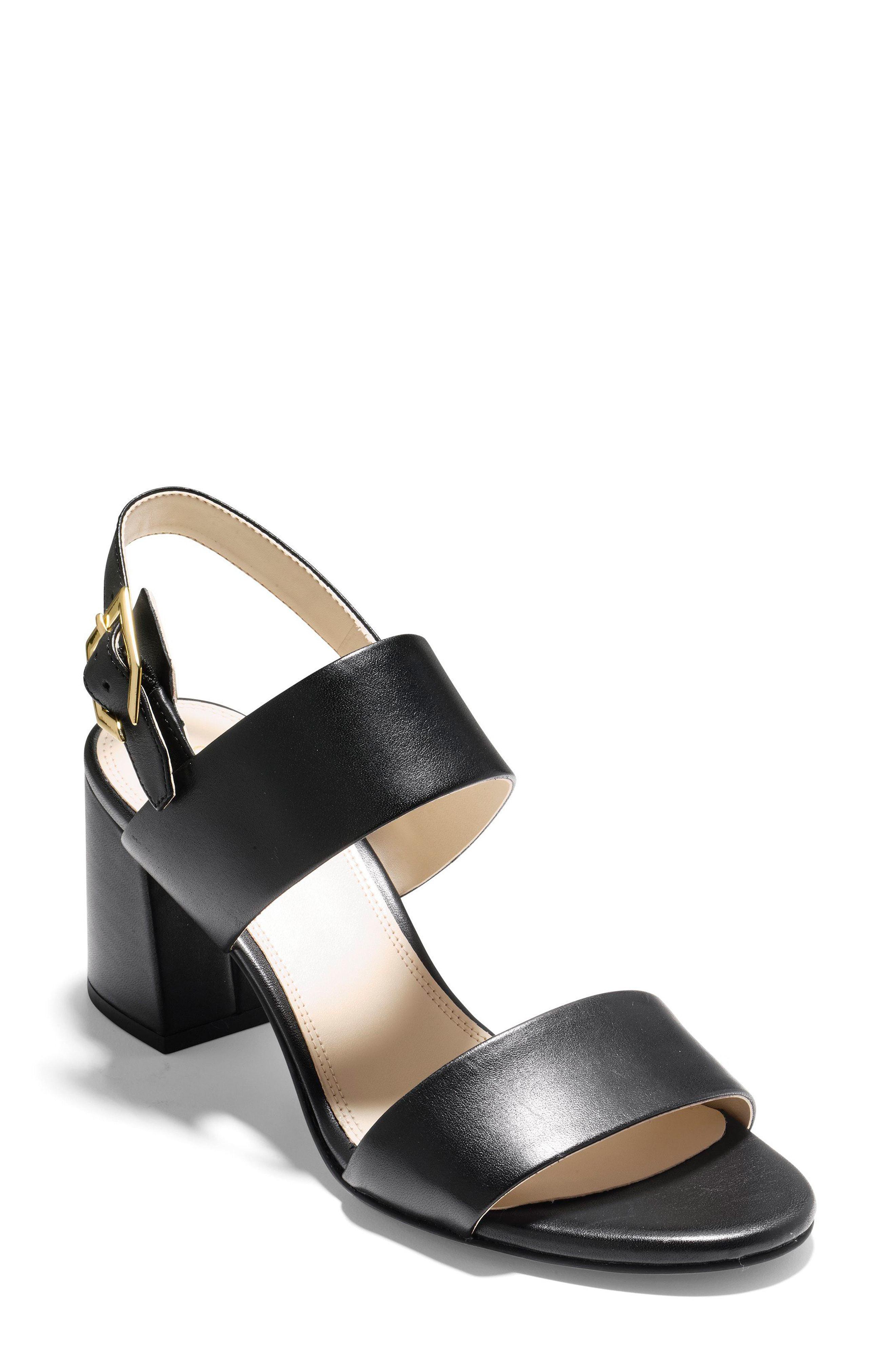 5c6b62e6032 Lyst - Cole Haan Avani Block Heel Sandal in Metallic