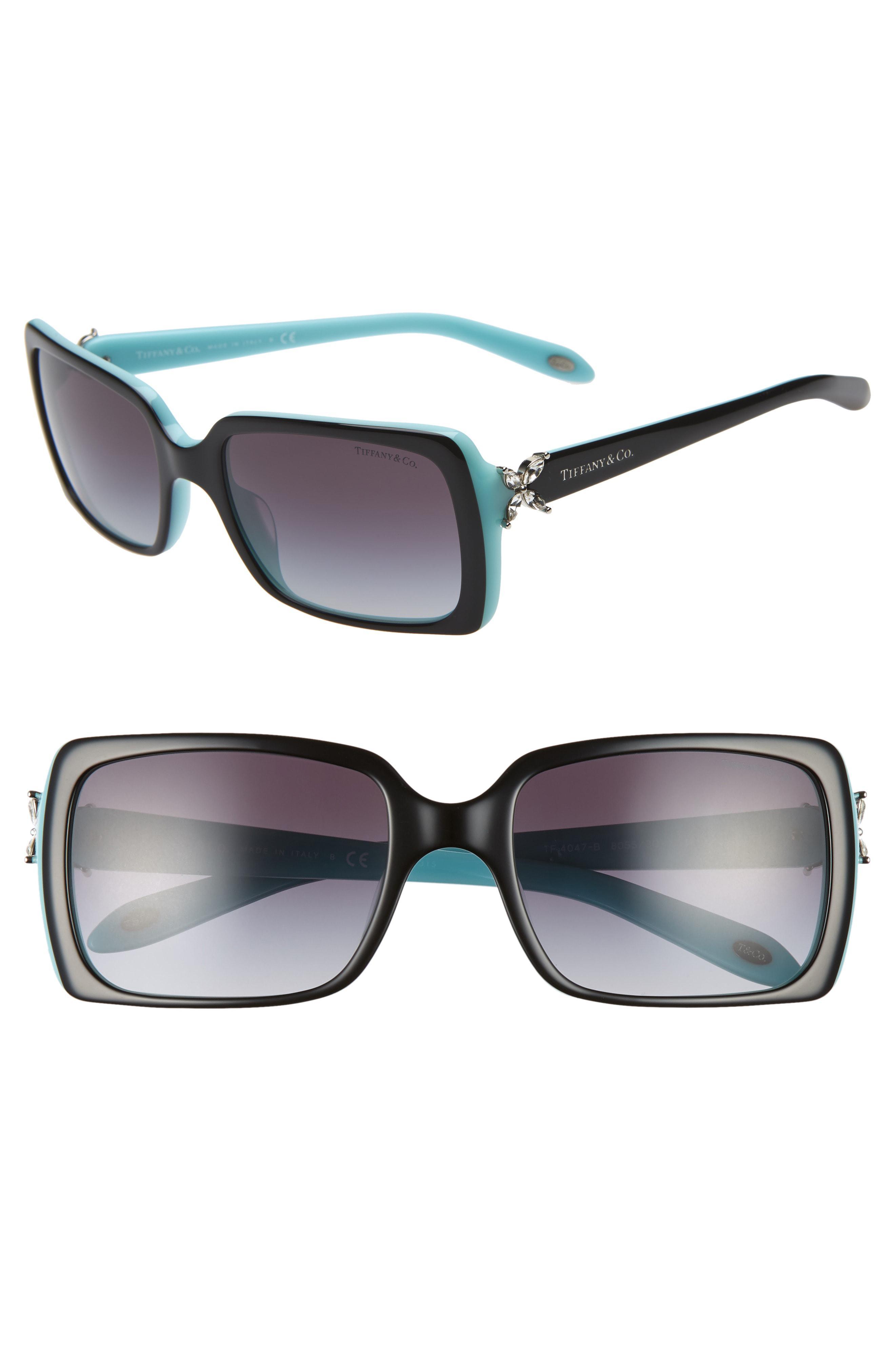 ff745948fd Lyst - Tiffany   Co. 55mm Square Sunglasses - in Gray