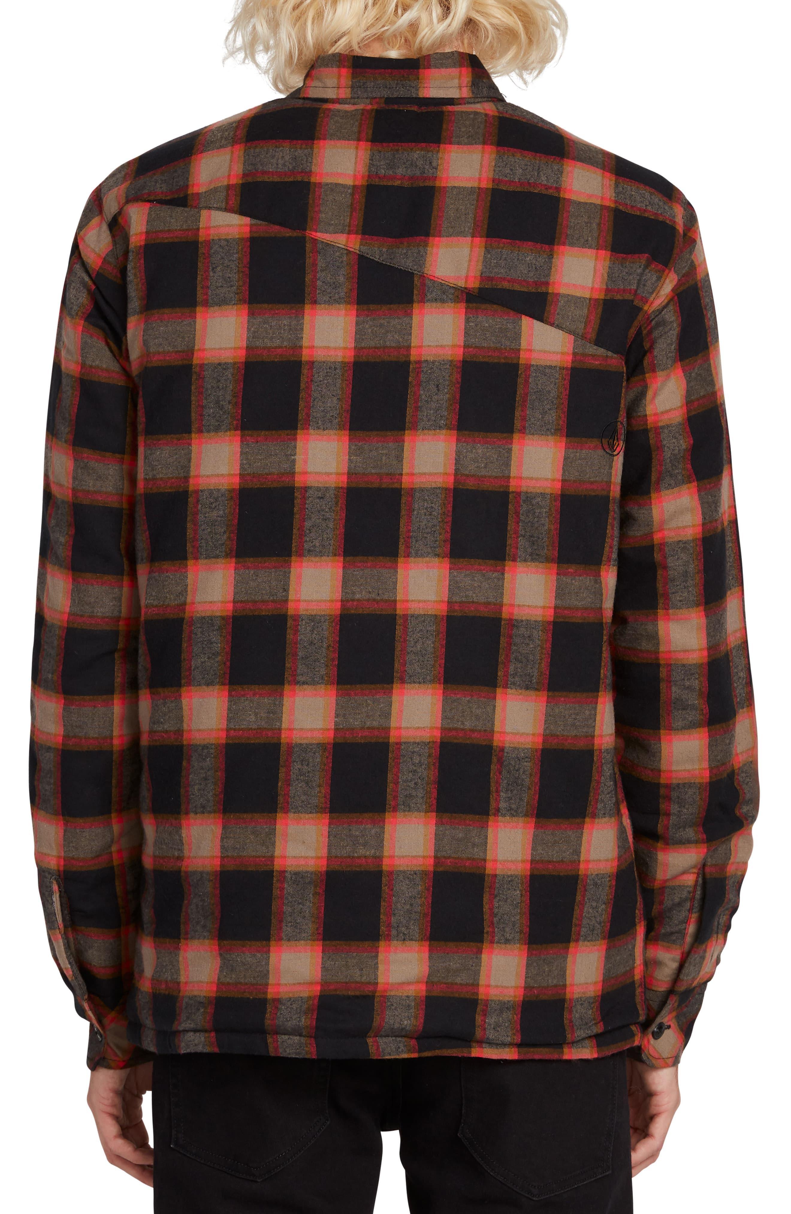 Volcom Big Boys Belgrade Button Up Long Sleeve Flannel Shirt