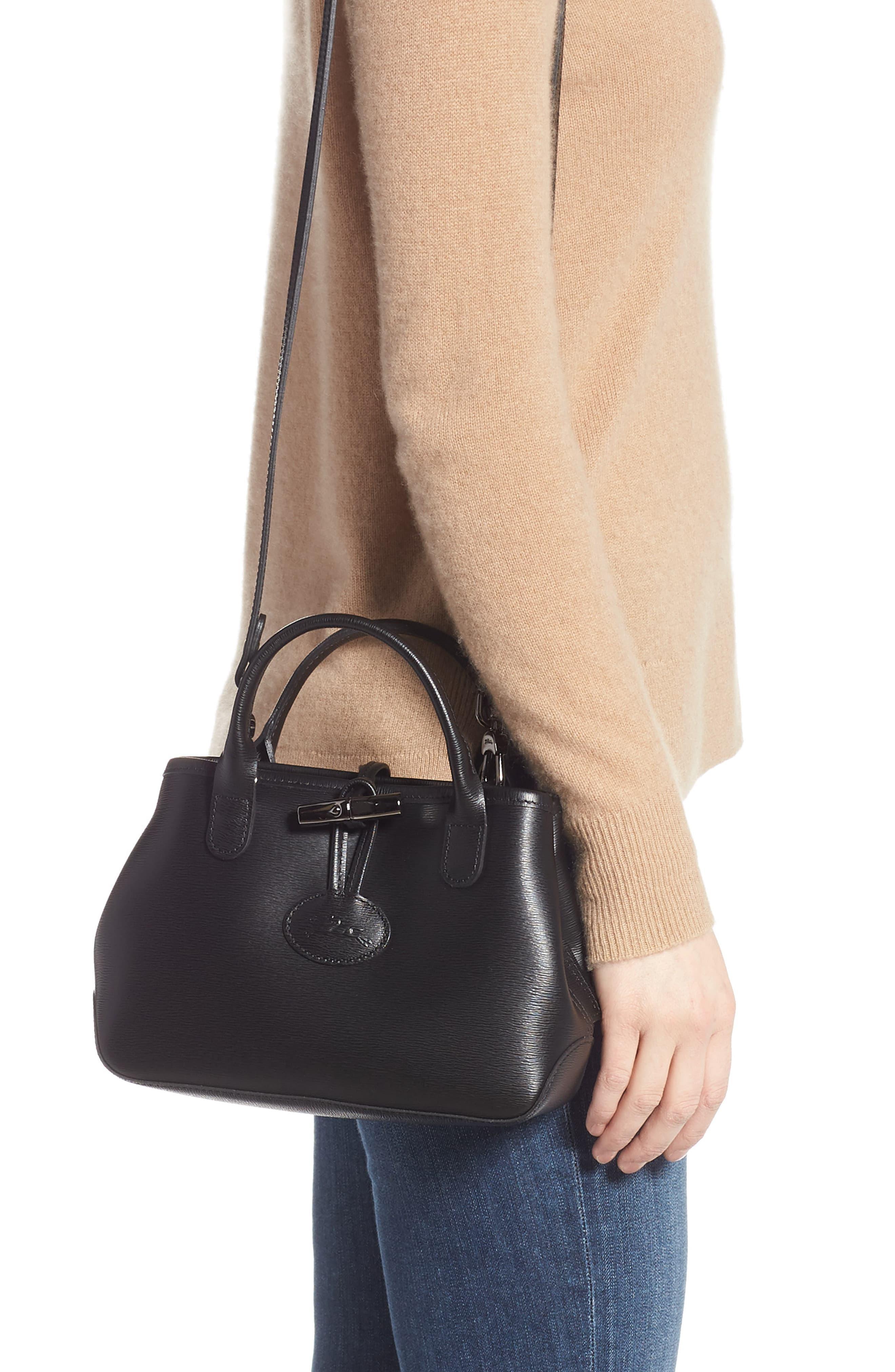 Mini Roseau Leather Crossbody Bag -