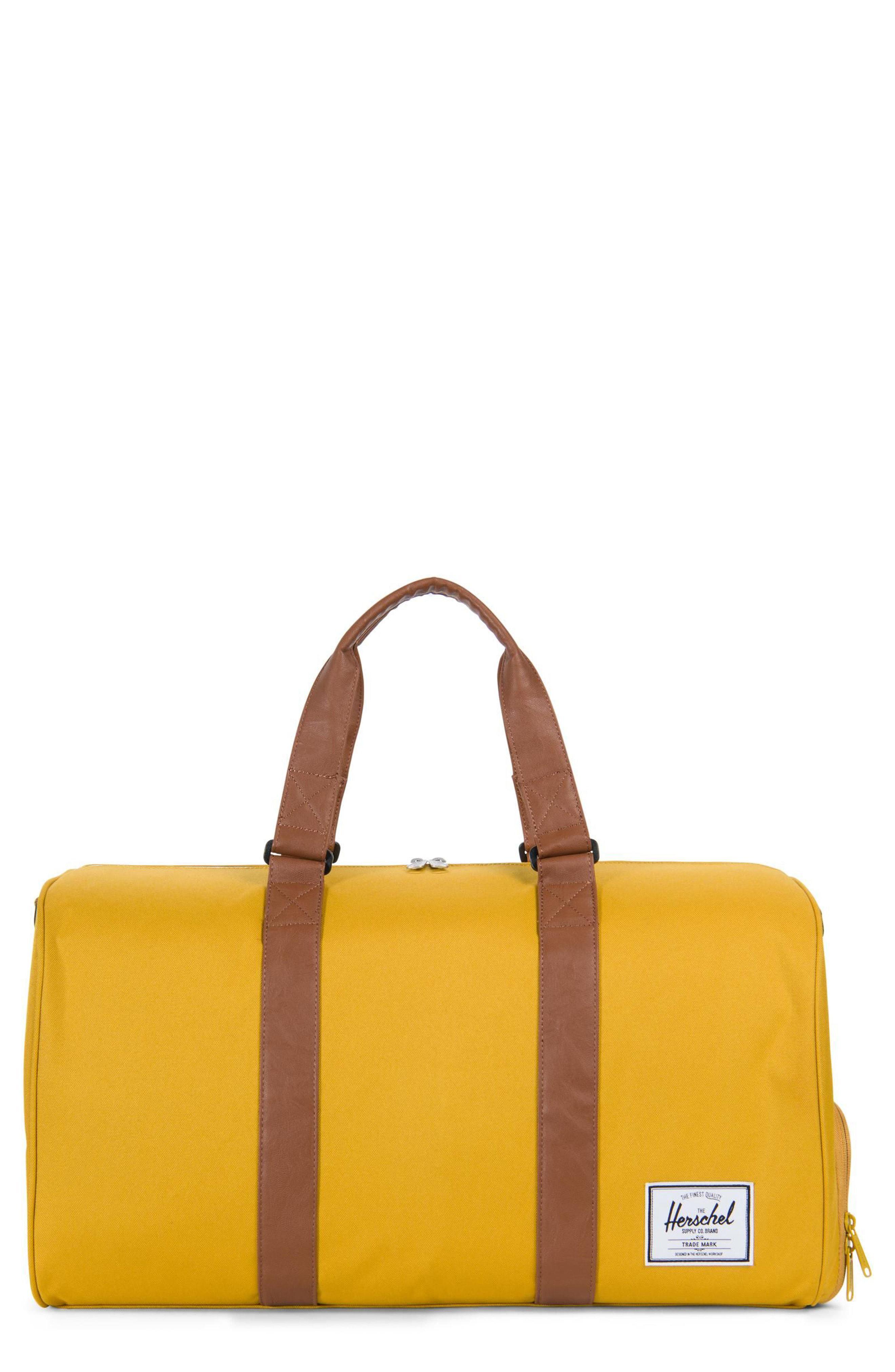 0b8d78cc06 Lyst - Herschel Supply Co. Novel Duffel Bag in Yellow for Men