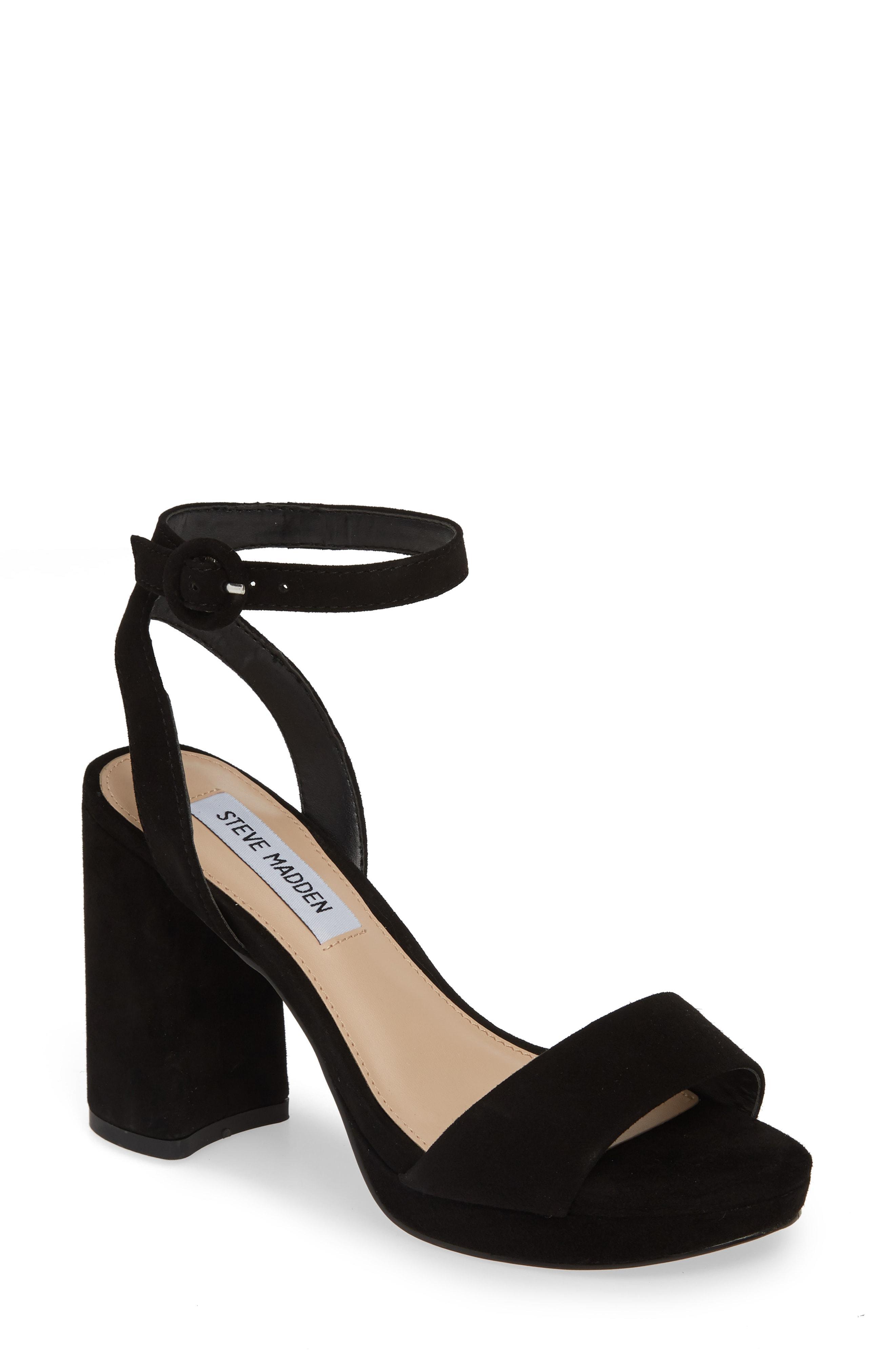 7d9476271db Lyst - Steve Madden Perch Platform Sandal in Black