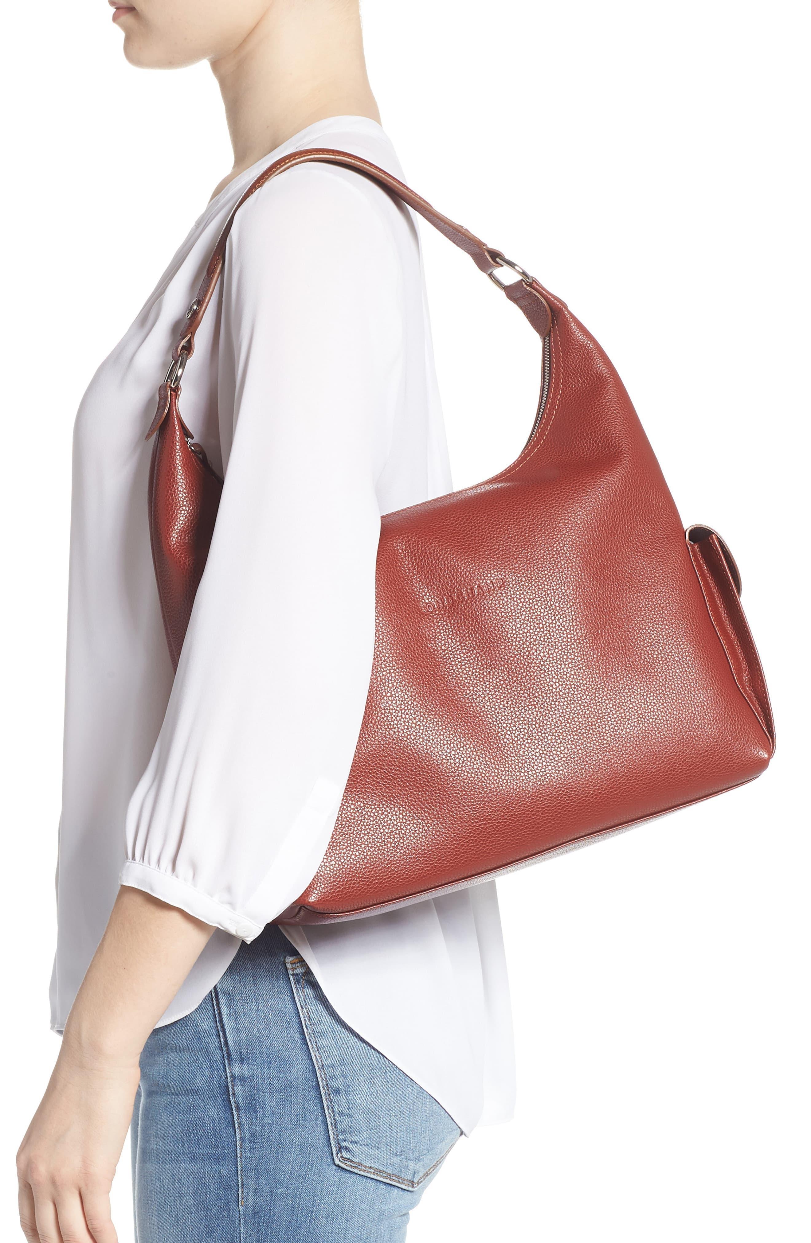 Le Foulonné Leather Hobo