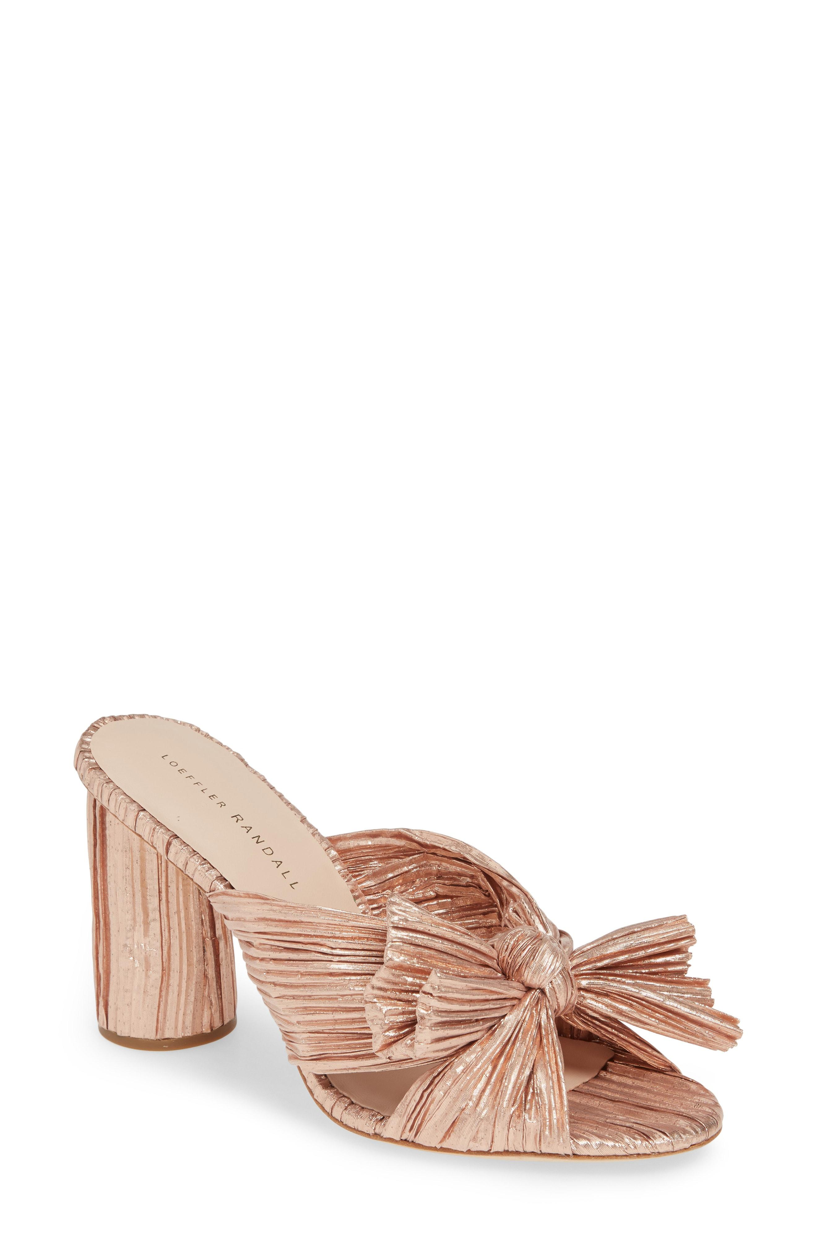 0b070b65d4d Lyst - Loeffler Randall Penny Knotted Lame Sandal in Natural