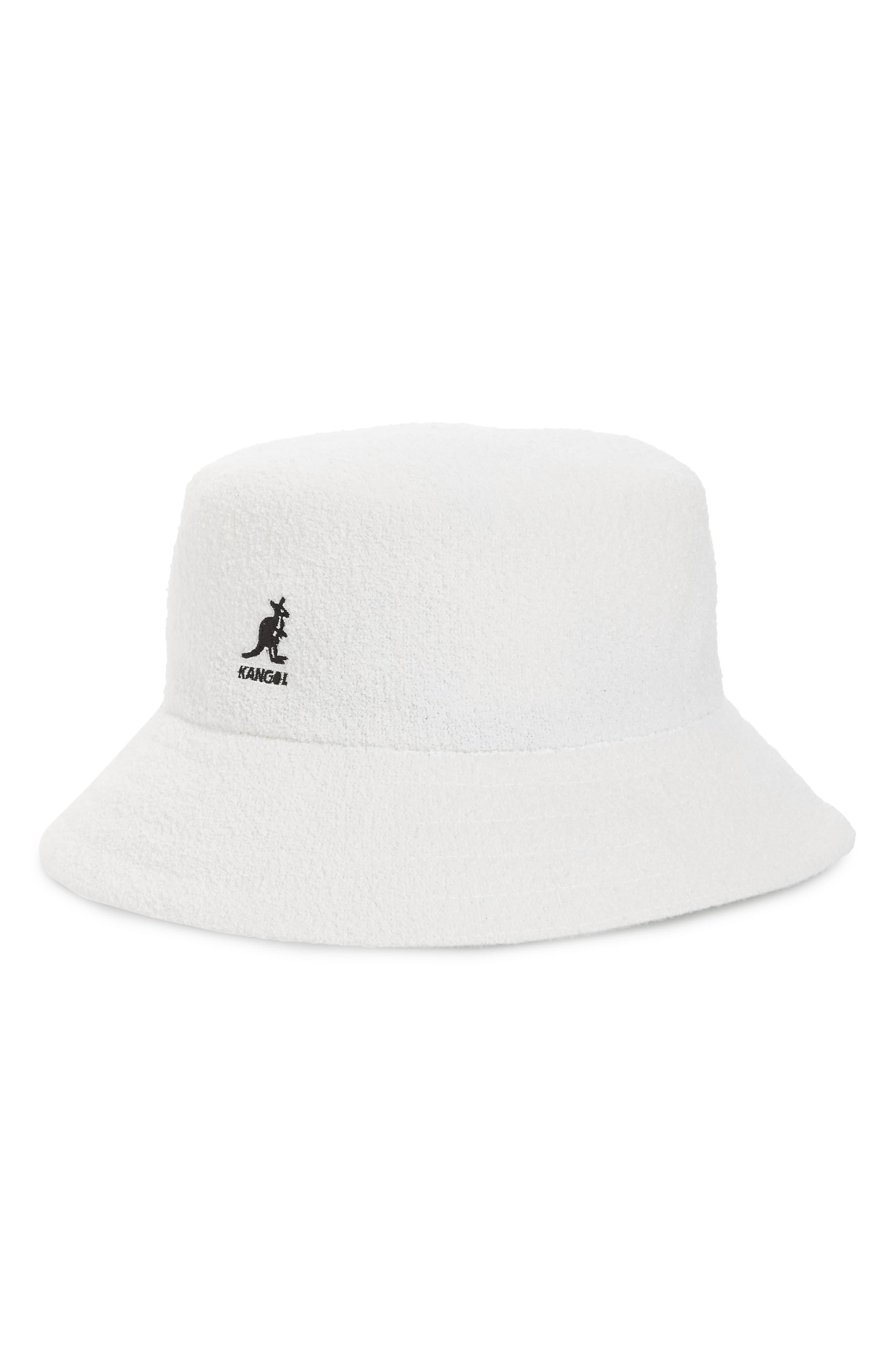 Kangol Mens Bermuda Unisex Terry Boucle Logo Bucket Hat BHFO 5108