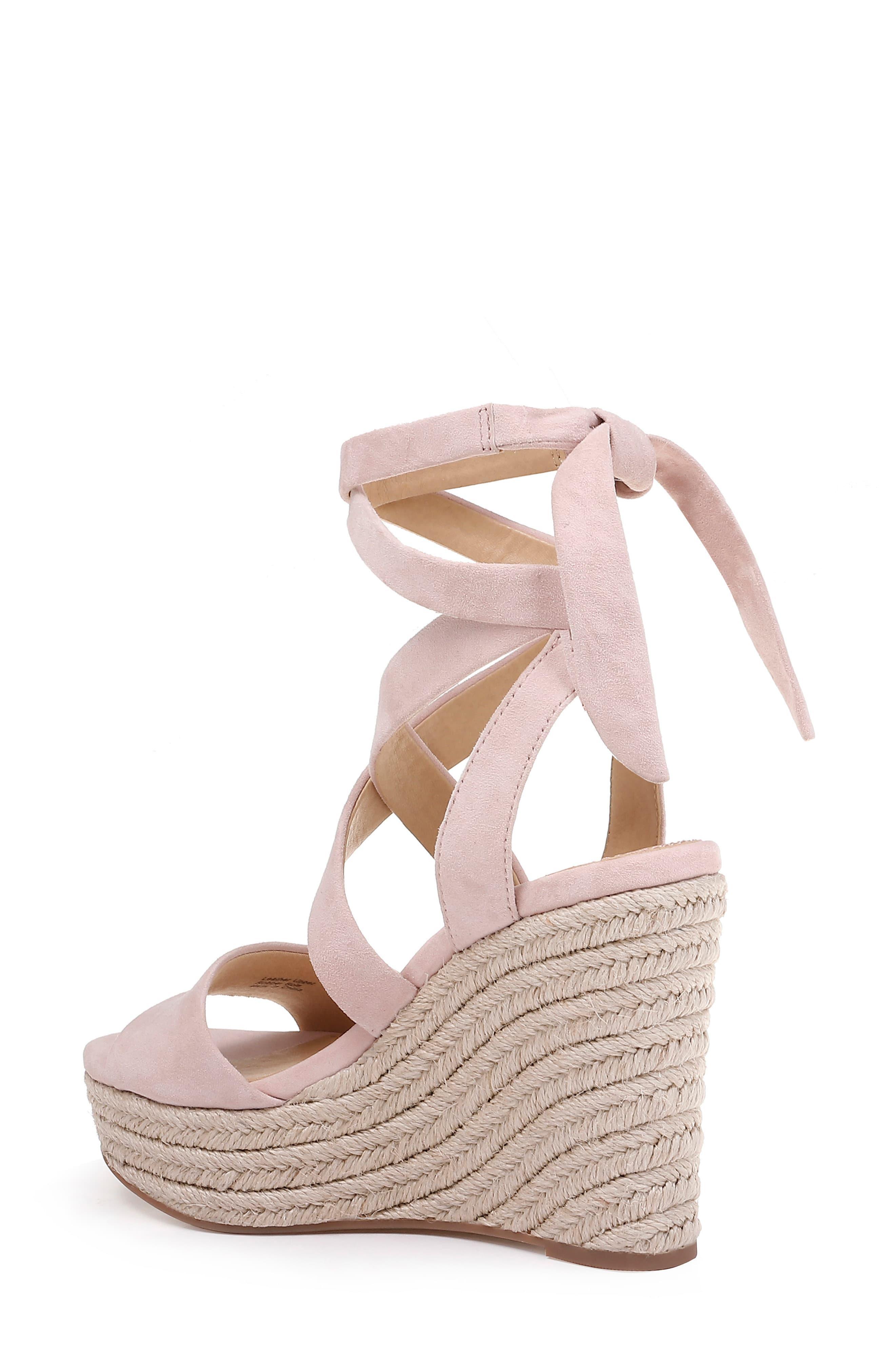 b545612280e Pink Women's Tessie Ankle - Tie Wedge Sandals