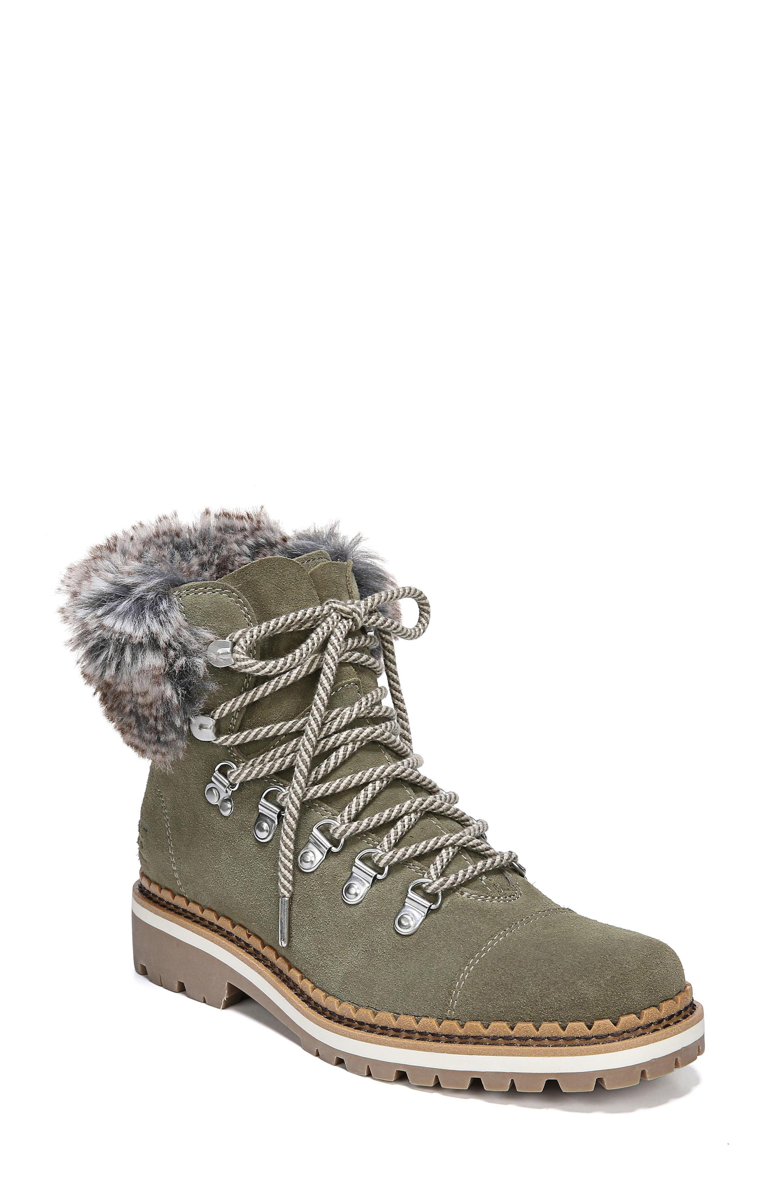 ef725c715 Lyst - Sam Edelman Bowen Faux Fur Trim Bootie in Gray