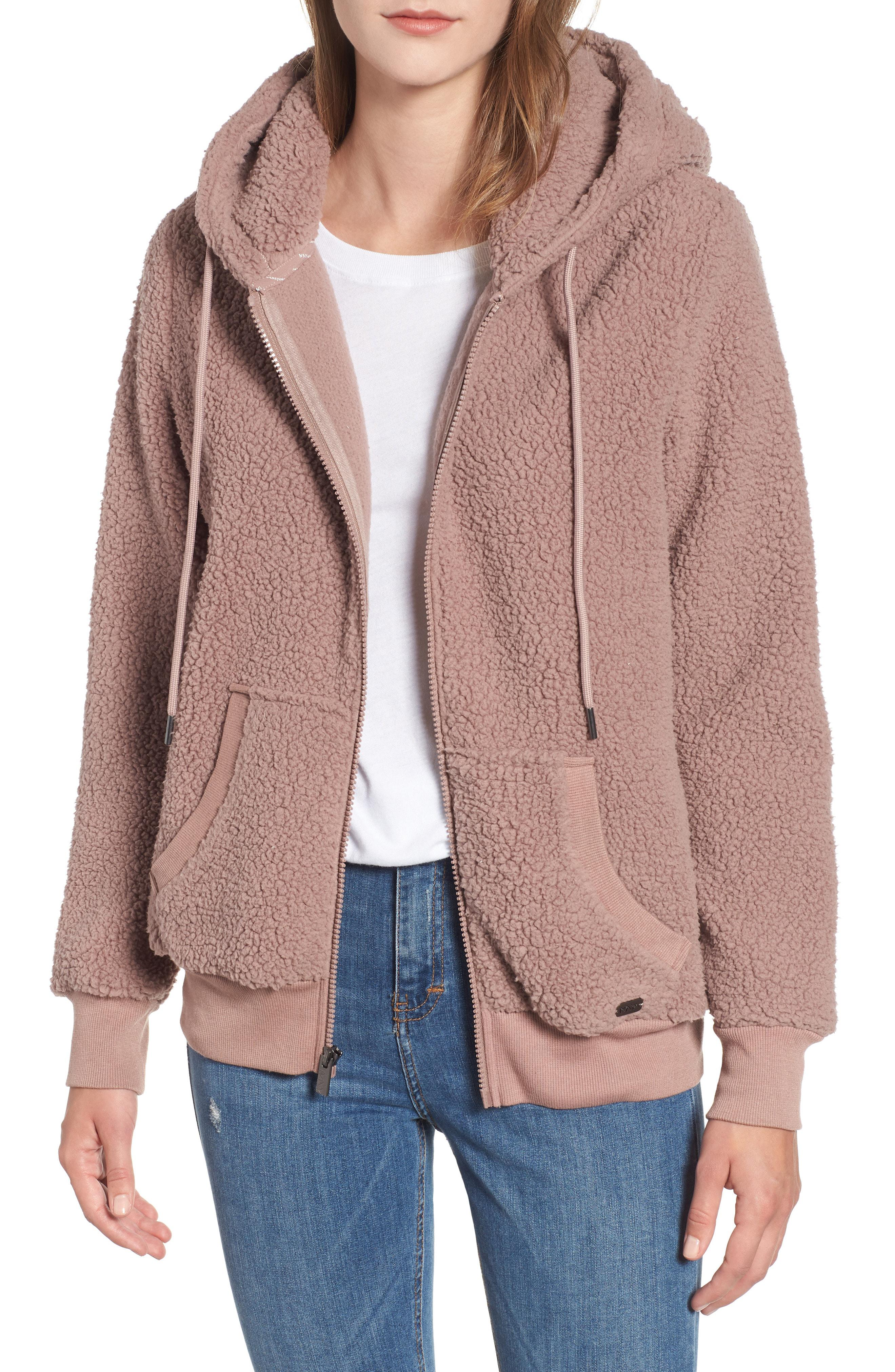 fleece-outerwear-jackets Donna Essentials Polar Fleece Lined Sherpa Full-zip Jacket